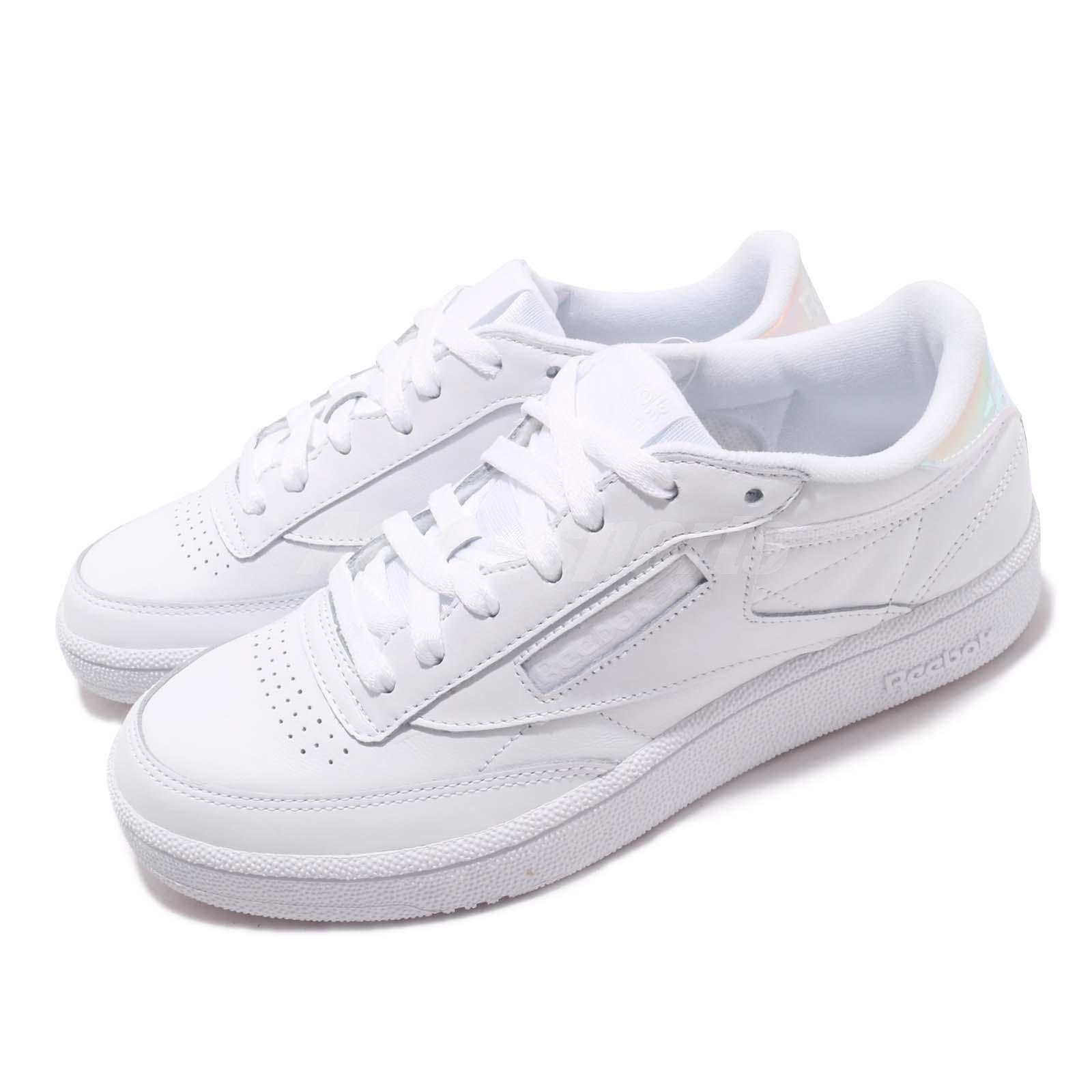 31ae329809571 Reebok Club C 85 MU White Iridescent Hologram Men Casual Shoes ... reebok  club