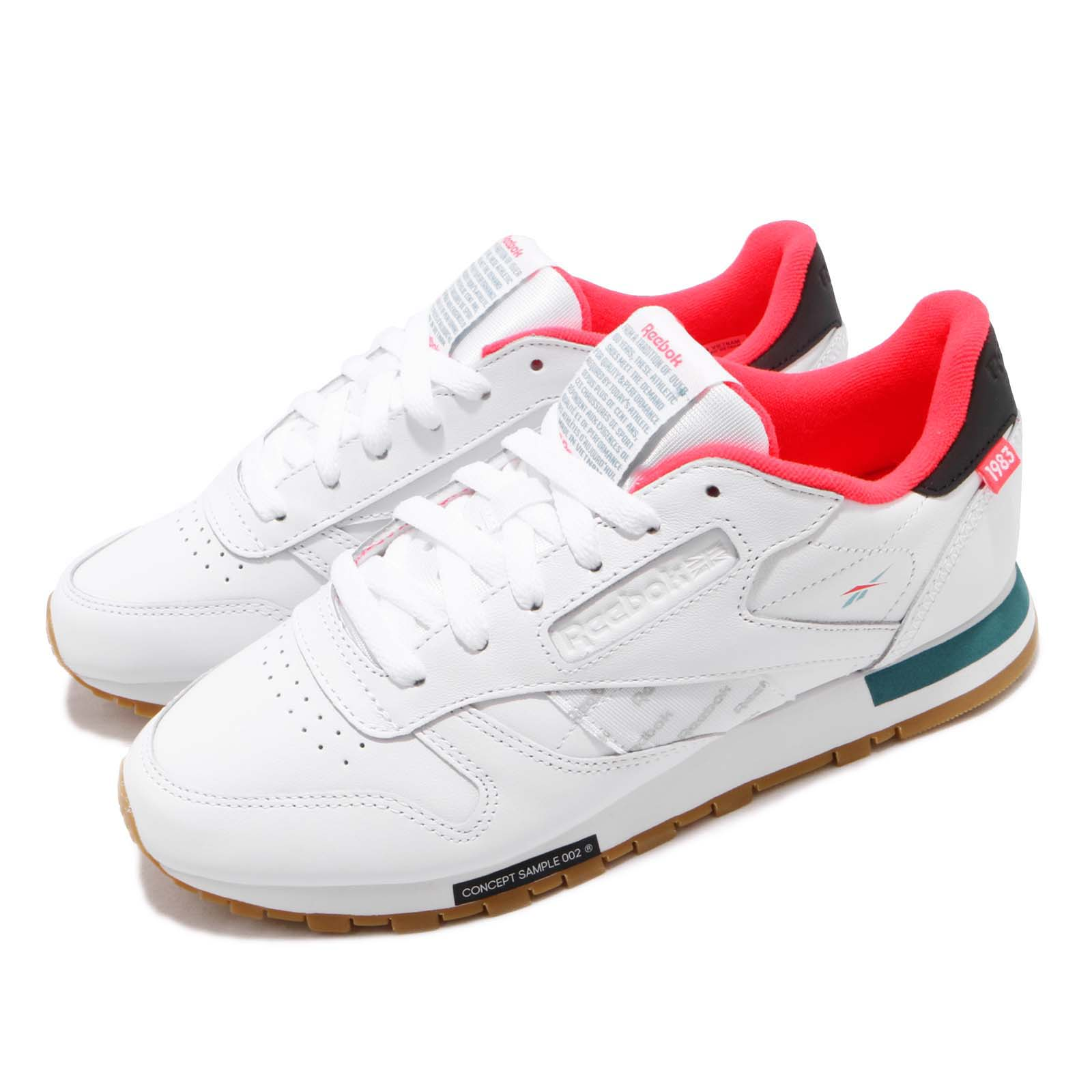 89794ed484e4aa Details about Reebok Classic Leather Altered White Red Mist Gum Women Shoes  Sneakers DV5238