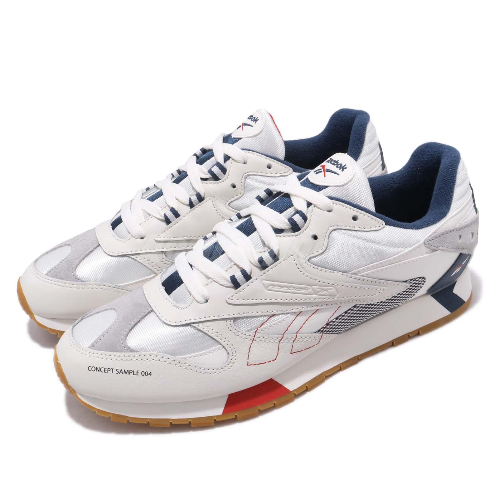 7a4c1810c721 Details about Reebok CL LTHR ATI 90s Chalk Grey Blue Red Gum Men Running  Shoes Sneakers DV5372
