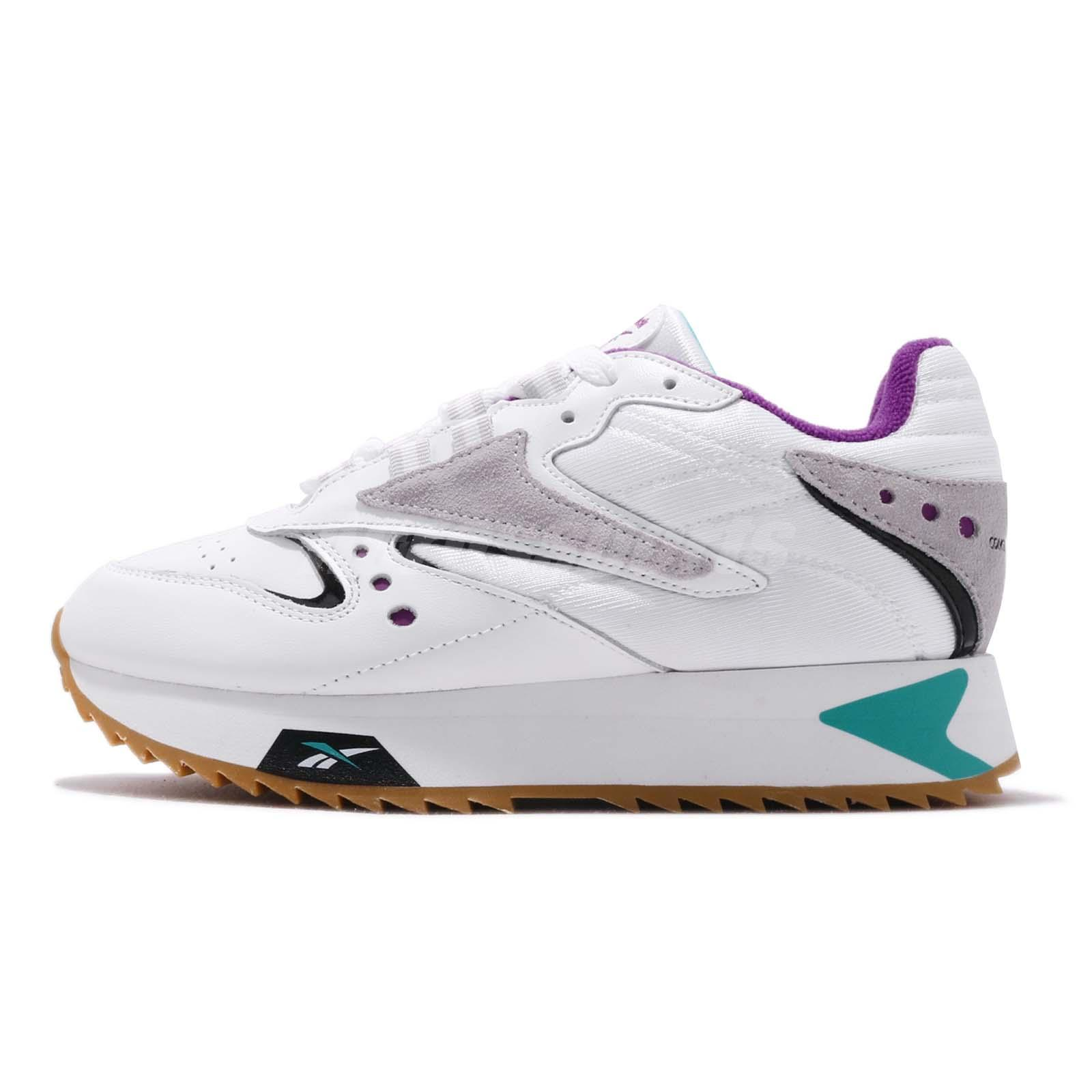 fb9a06fa0013a Reebok CL LTHR ATI 90s W White Teal Purple Womens Classic Shoes Sneakers  DV5376