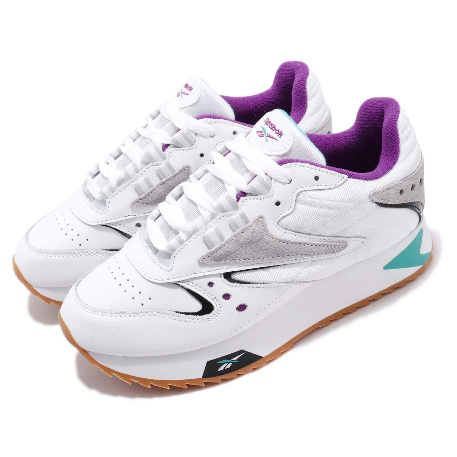mejor lugar último clasificado comprar Reebok CL LTHR ATI 90s W White Teal Purple Womens Classic Shoes ...
