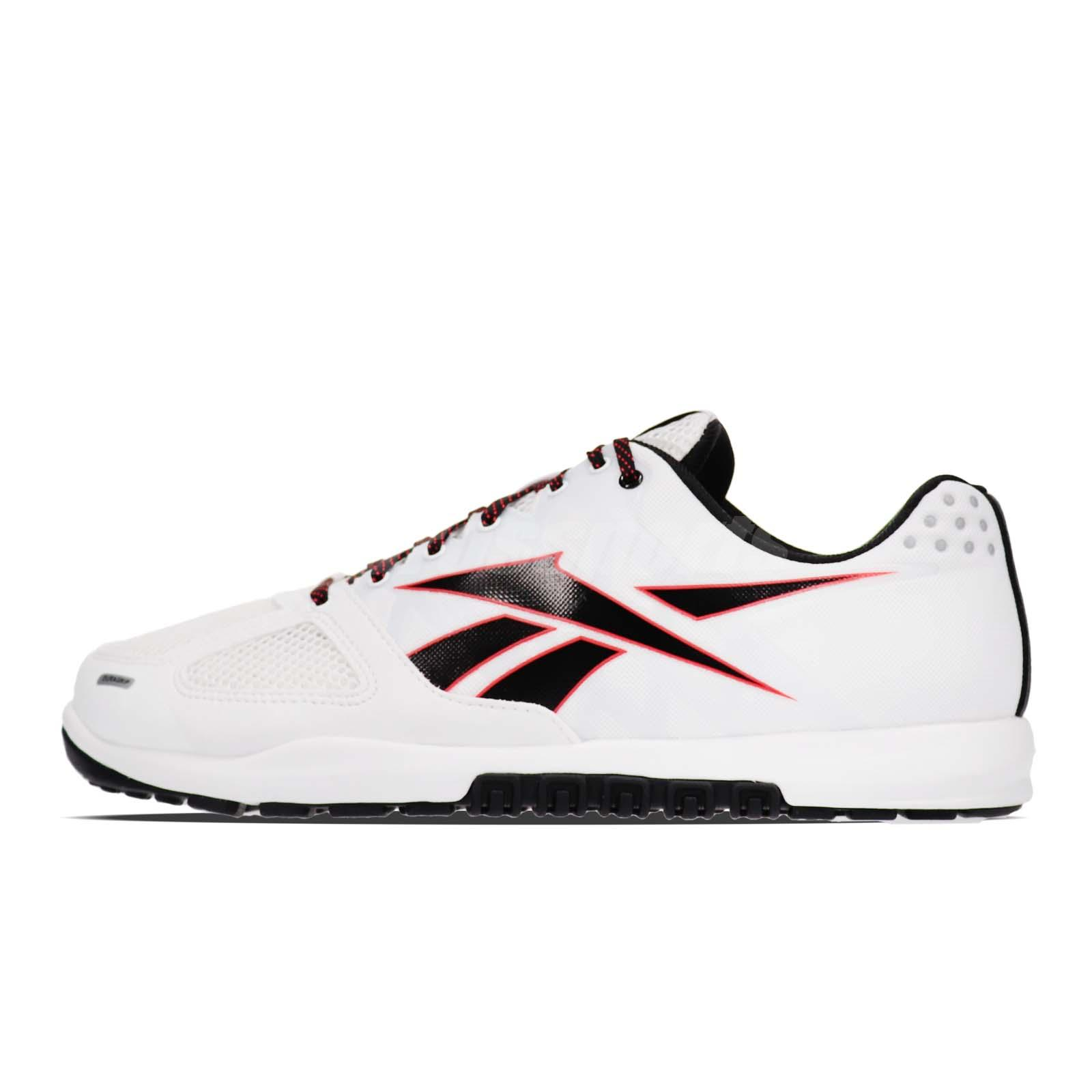 5b597d0a508 Reebok R CrossFit Nano 2.0 White Black Red Men Cross Training Shoes DV5748