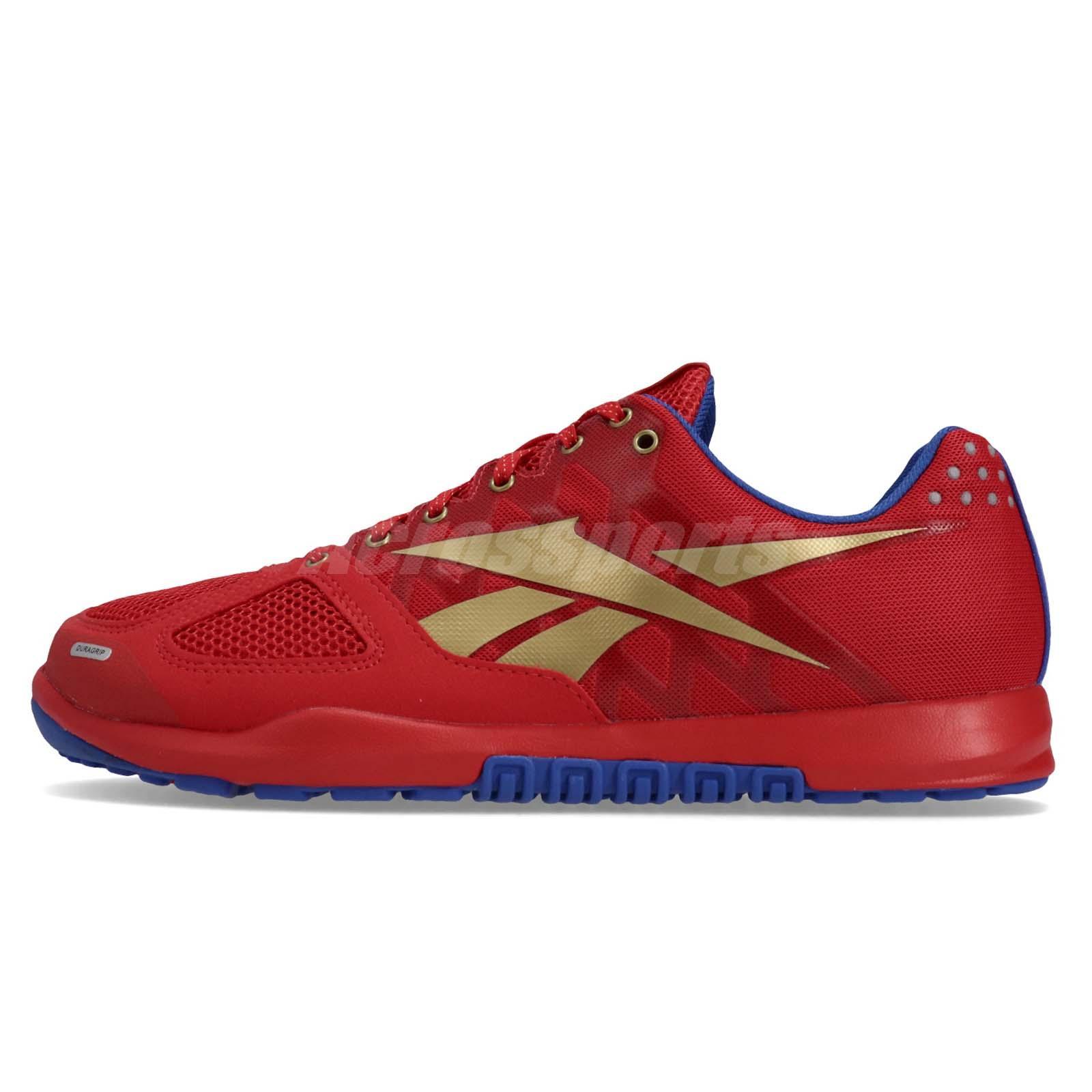 ab1650379eb Reebok R CrossFit Nano 2.0 Red Blue Gold Men Cross Training Shoes Sneaker  DV5758