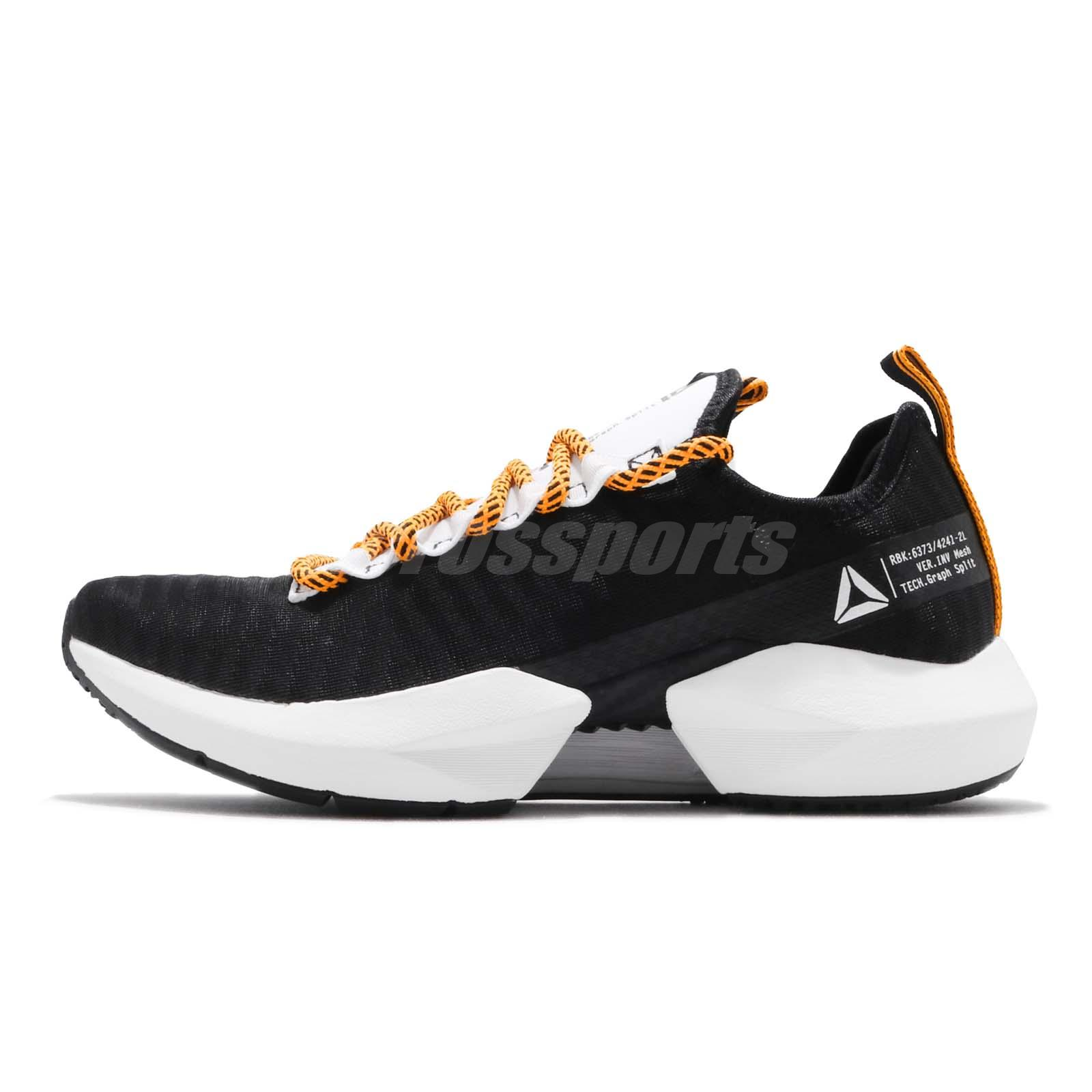 091dc3f4837 Reebok Sole Fury SE Black White Solar Gold Men Running Shoes Sneakers DV6919