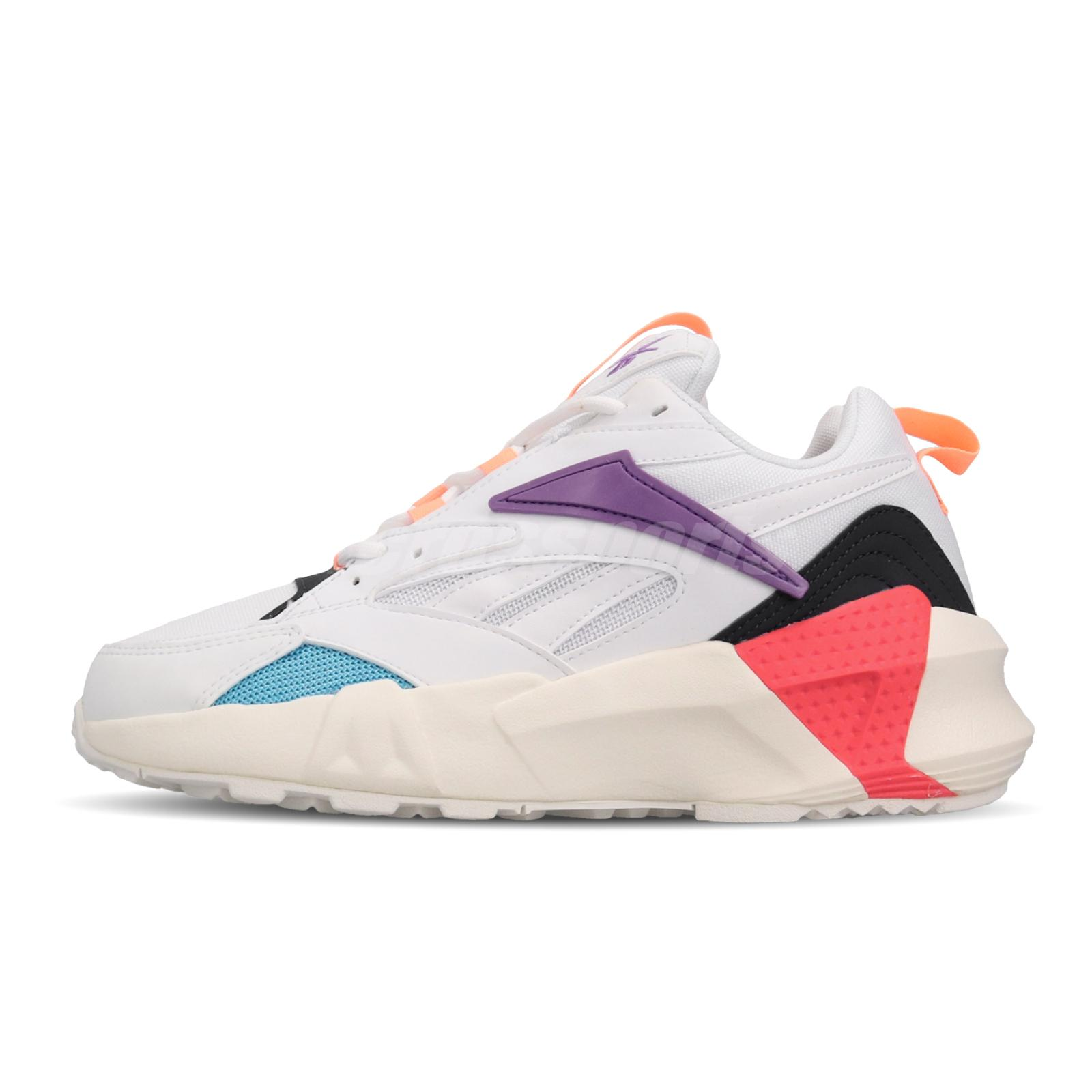 Details about Reebok AZTREK Double Mix Pops White Purple Pink Womens Chunky Shoes DV8171