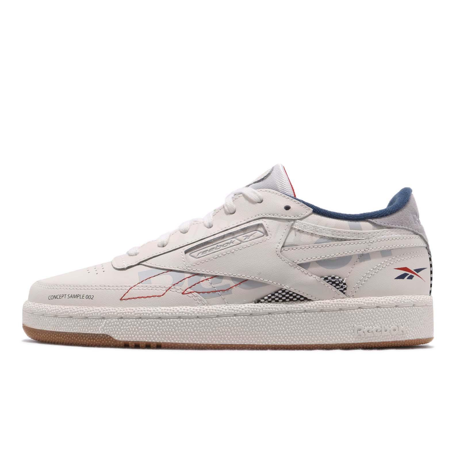 02db2bcb9e4c Details about Reebok Club C 85 ATI 90s Chalk Grey Blue Red Gum Men Casual  Shoes Sneaker DV8961