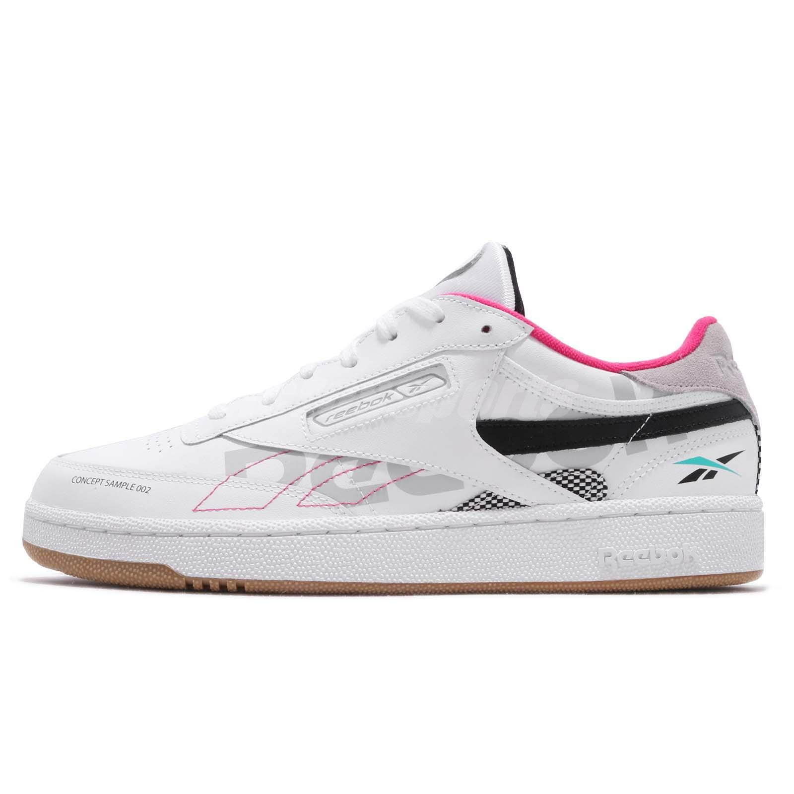 ba9a25ee3ba7 Reebok Club C 85 ATI 90s White Teal Black Grey Pink Gum Men Casual Shoes  DV8962