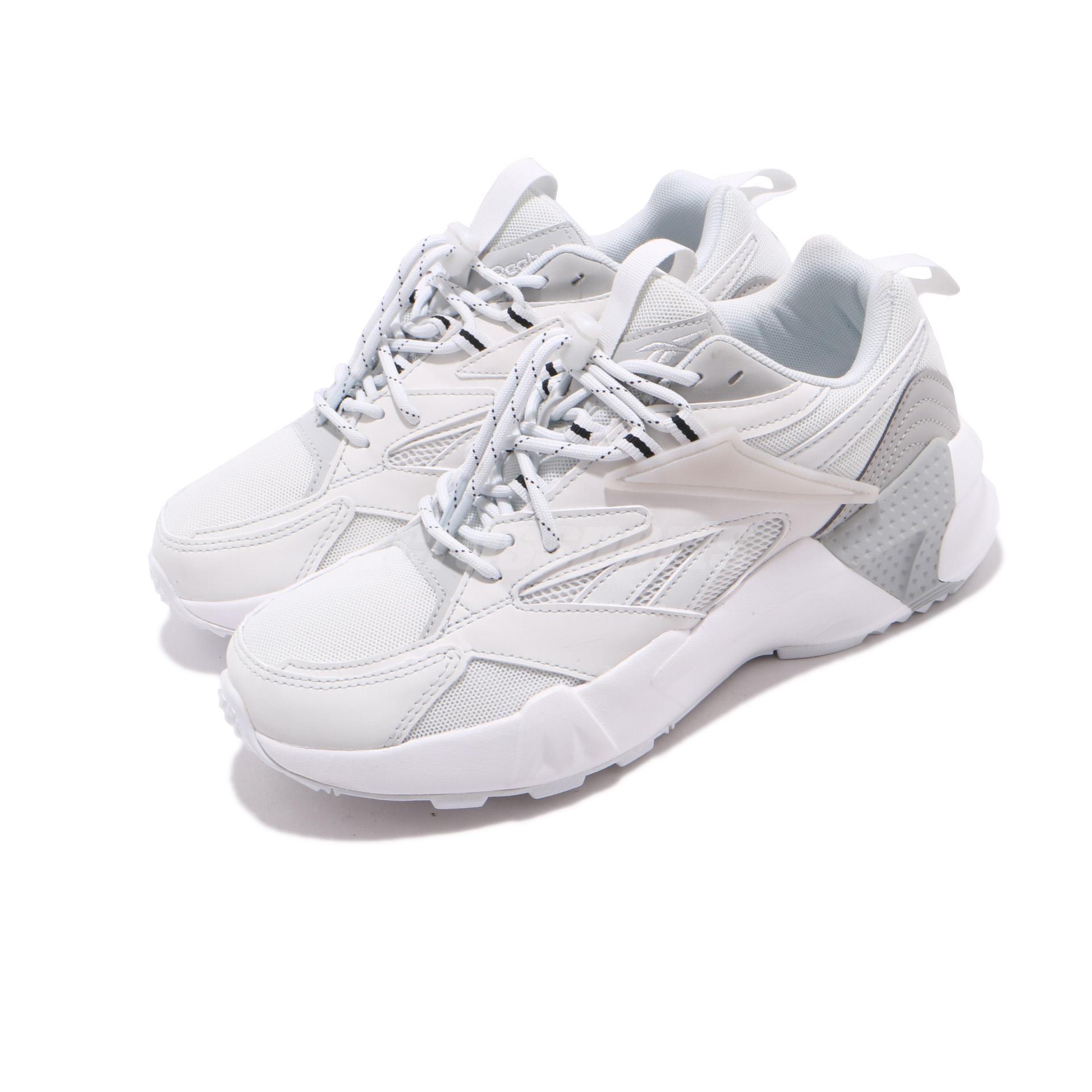 äkta skor fantastiska besparingar helt ny Reebok AZTREK Double Mix Laces Grey White Womens 90s Retro Style ...
