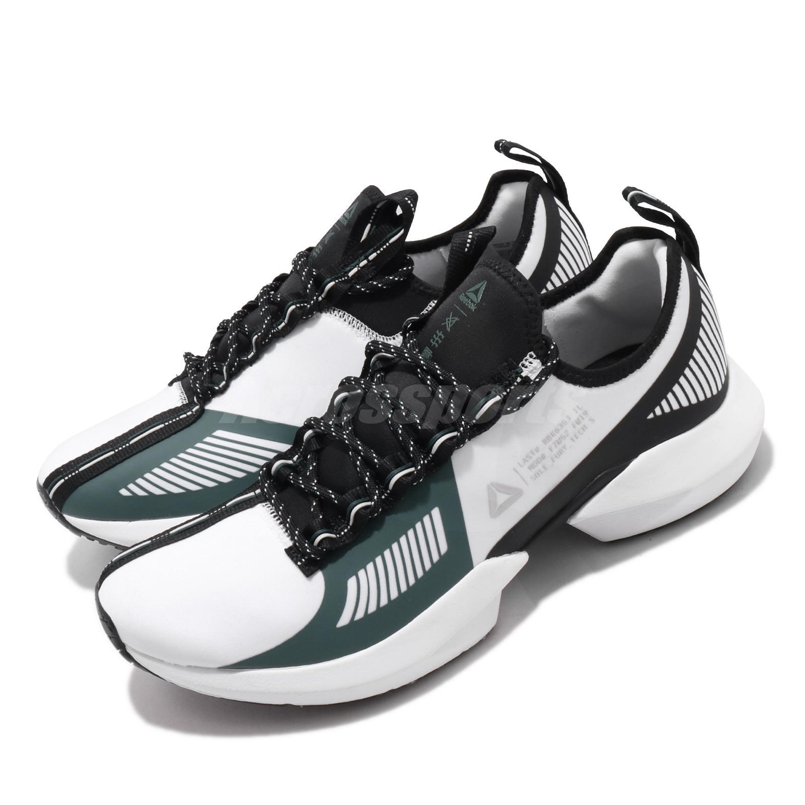Reebok Sole Fury TS White Black Clover Green Men Running Shoes Sneakers DV9286