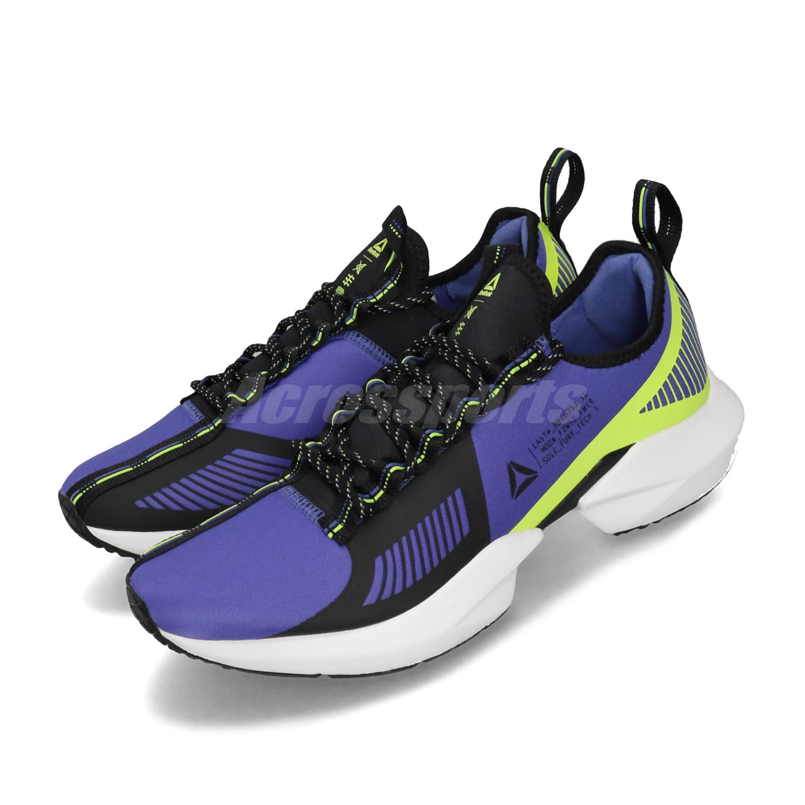 602bf0f5f8 Details about Reebok Sole Fury TS Purple Black Neon Lime Mens Running Shoes  DV9289