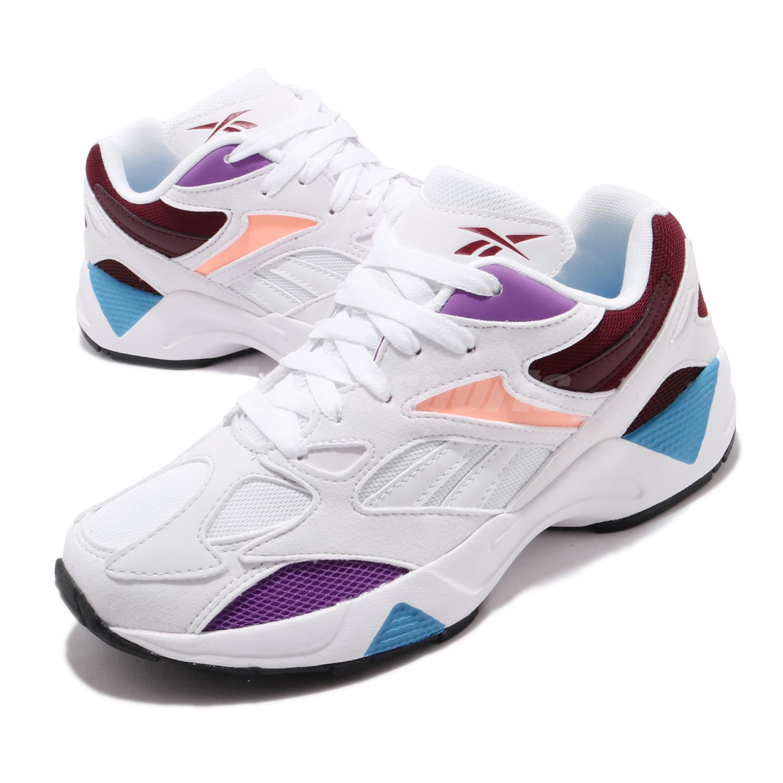 Marca comercial por inadvertencia Lavandería a monedas  Reebok AZTREK 96 Reinvented 90s Style White Purple Marron Men ...