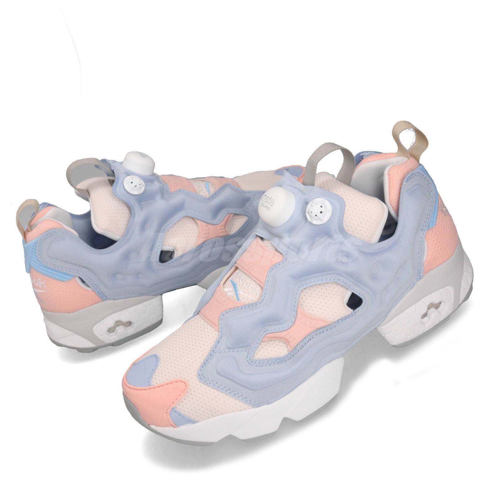 Reebok Insta Pump Fury OG Pink Blue White Men Running Shoes Sneakers EH0975