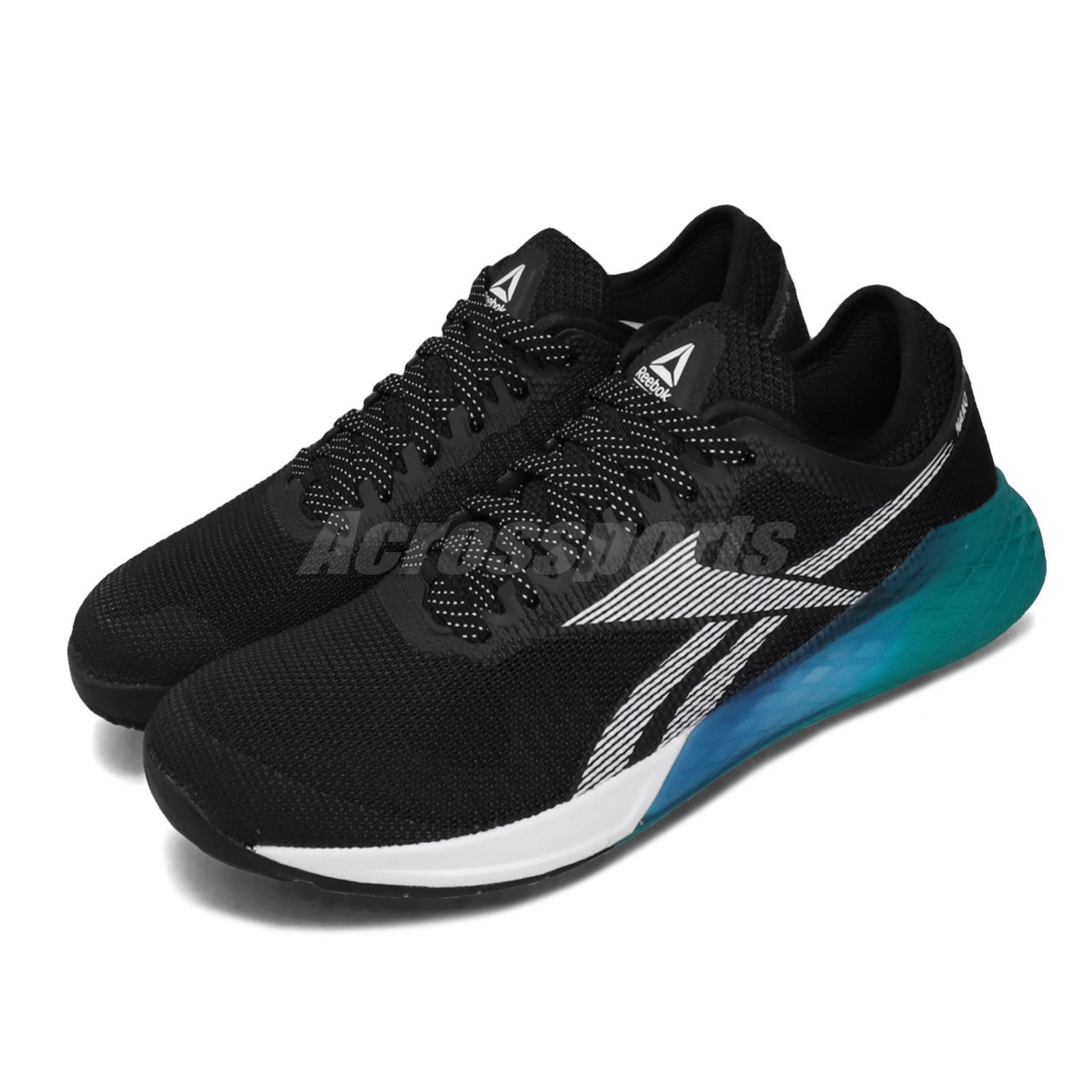 Reebok Nano 9 Black Teal Blue White Men CrossFit Training Shoes Sneakers FU7564