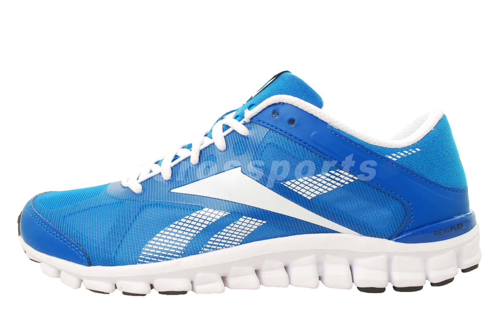 Reebok Realflex Flight Blue Sport White Mens Running Shoes ...