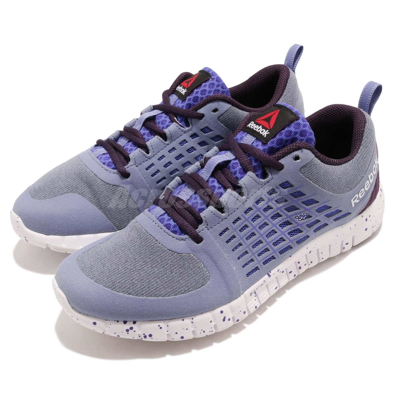 3e176cdb57e Details about Reebok Zquick 2.0 Flow Purple White Women Running Training  Shoes Sneakers M40415