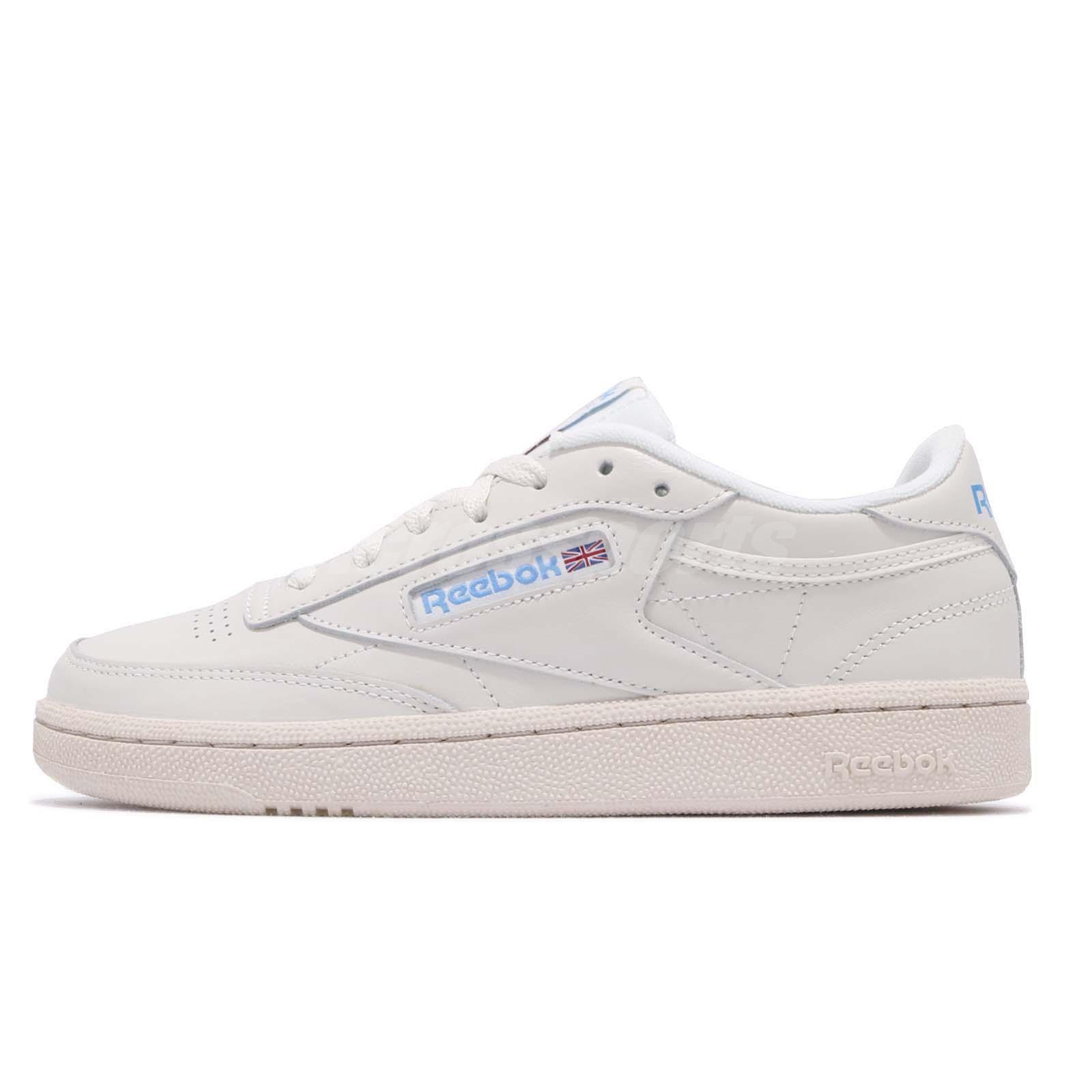 19f595e2ae1 Reebok Club C 85 Vintage Beige Chalk Blue Womens Casual Shoes Sneakers  V69406