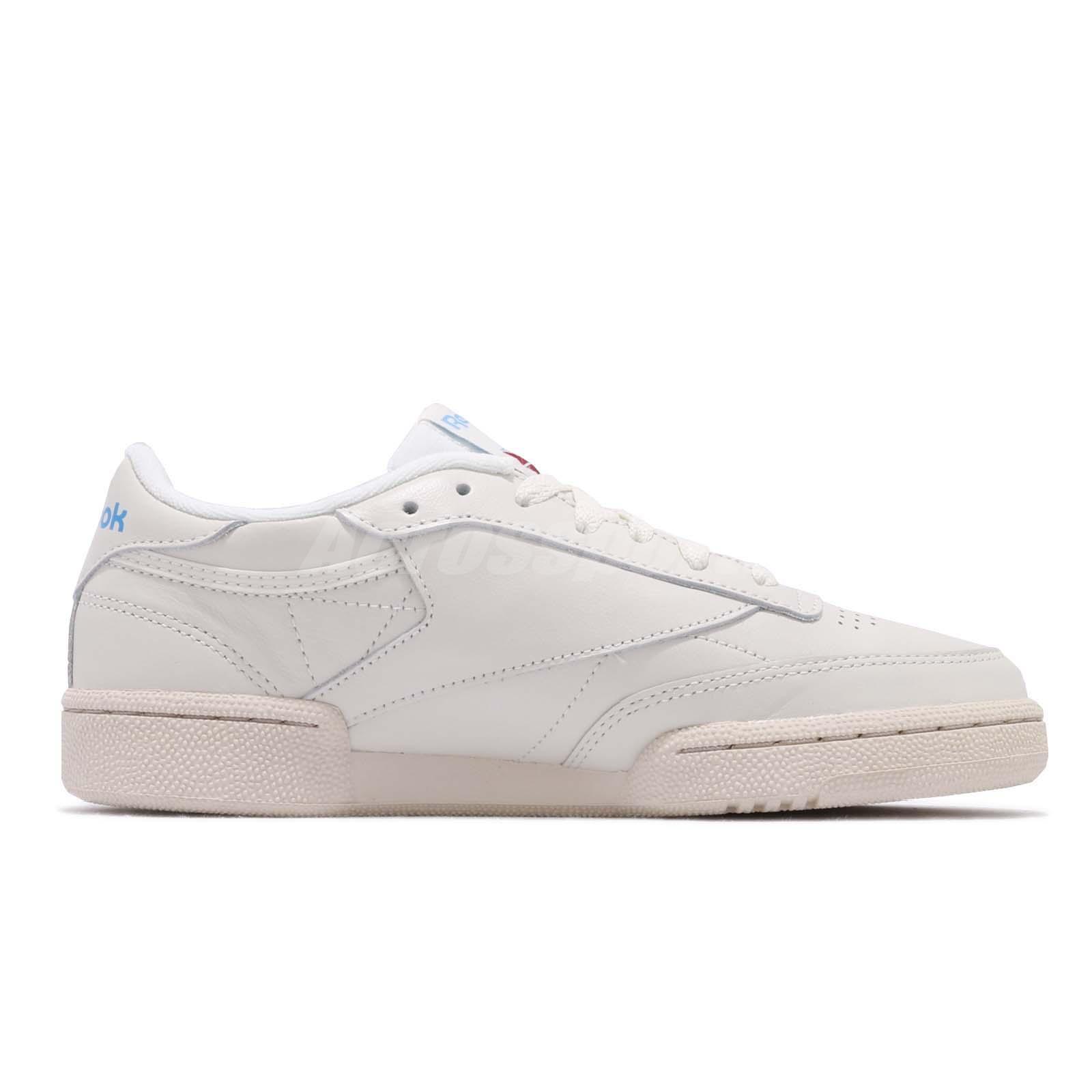 ab116835ee1 Reebok Club C 85 Vintage Beige Chalk Blue Womens Casual Shoes ...
