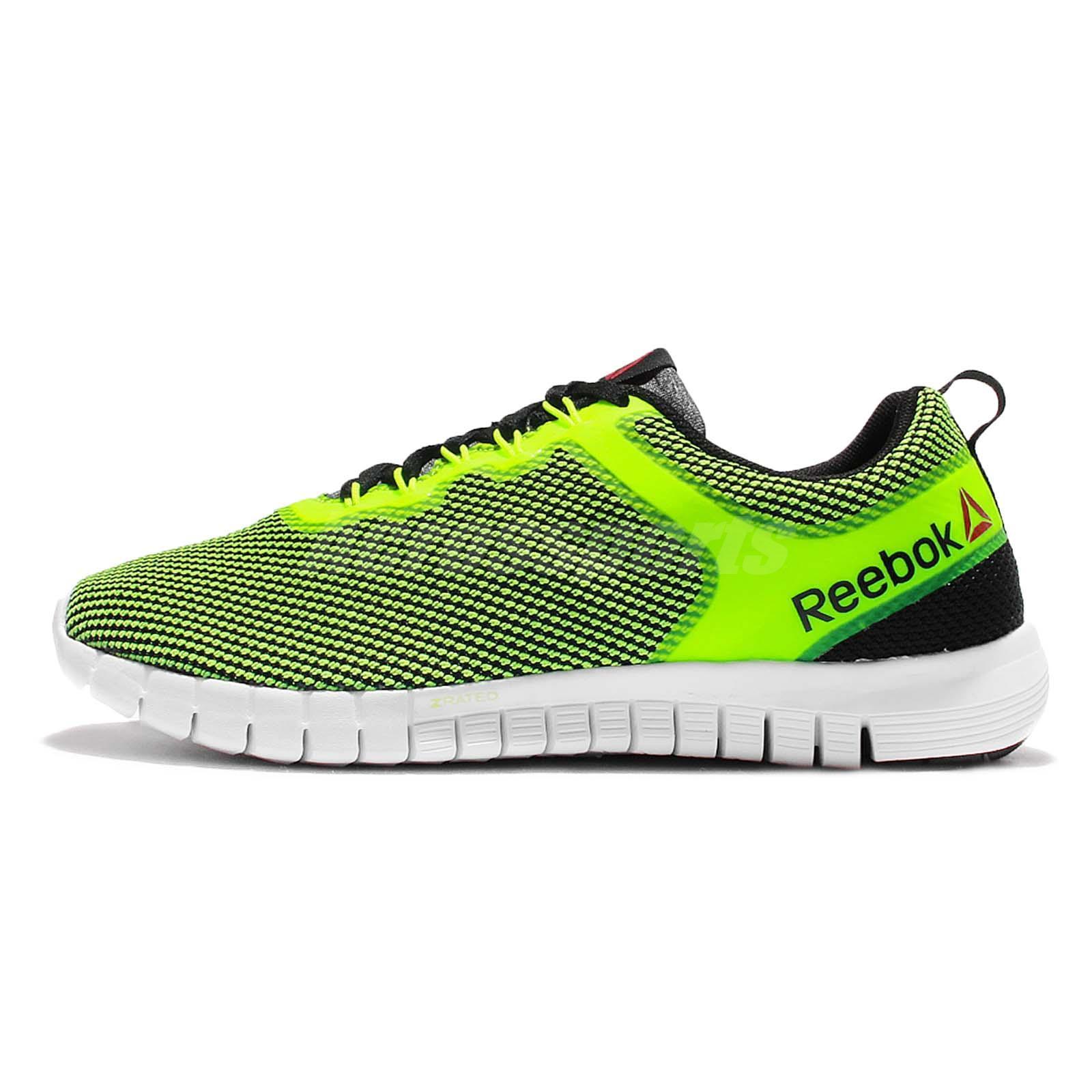 Reebok ZQuick Lite Yellow Green White Mens Running Shoes Sneakers V71829