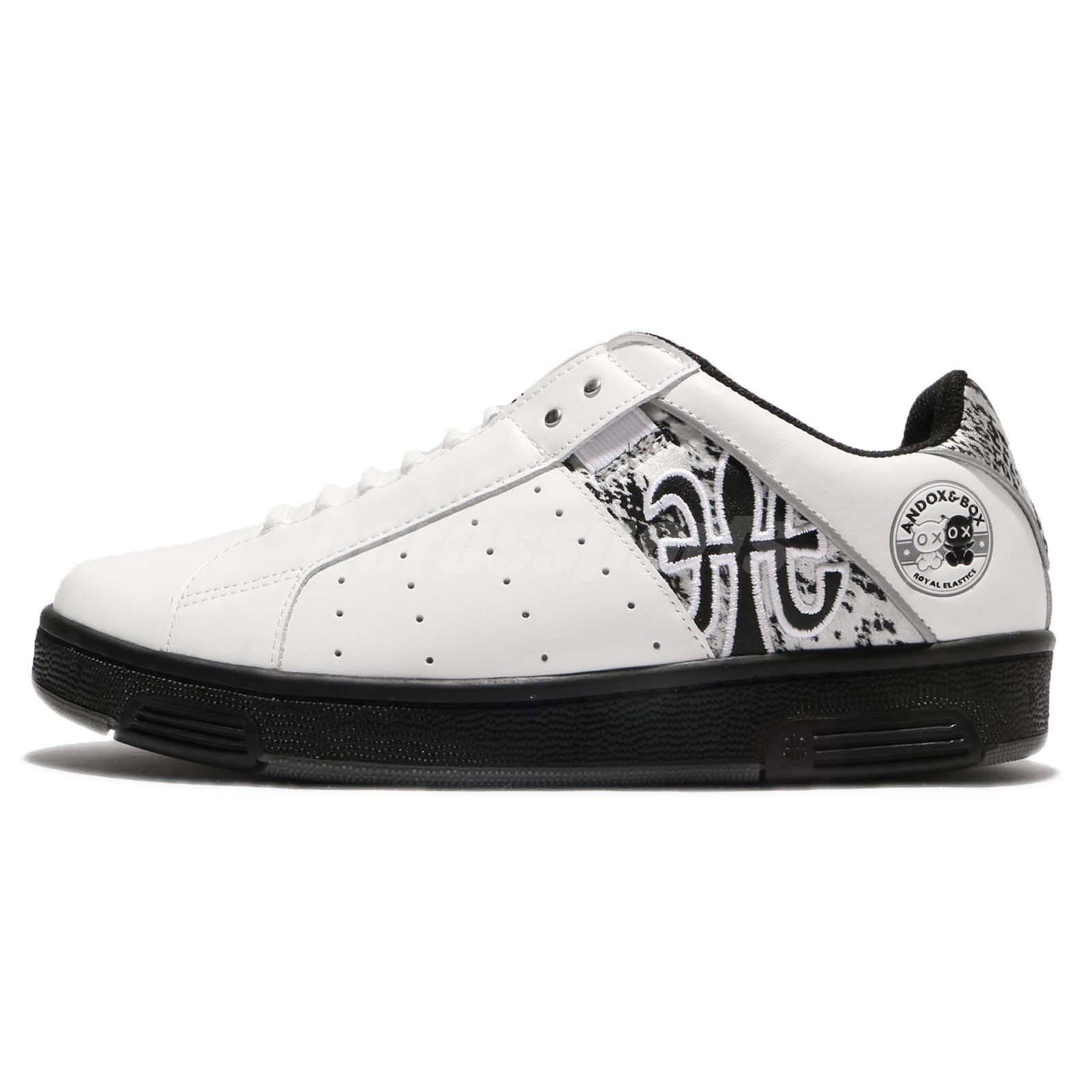 Royal Elastics Icon x Andox Box 1707 Black White Leather Men Shoes ...