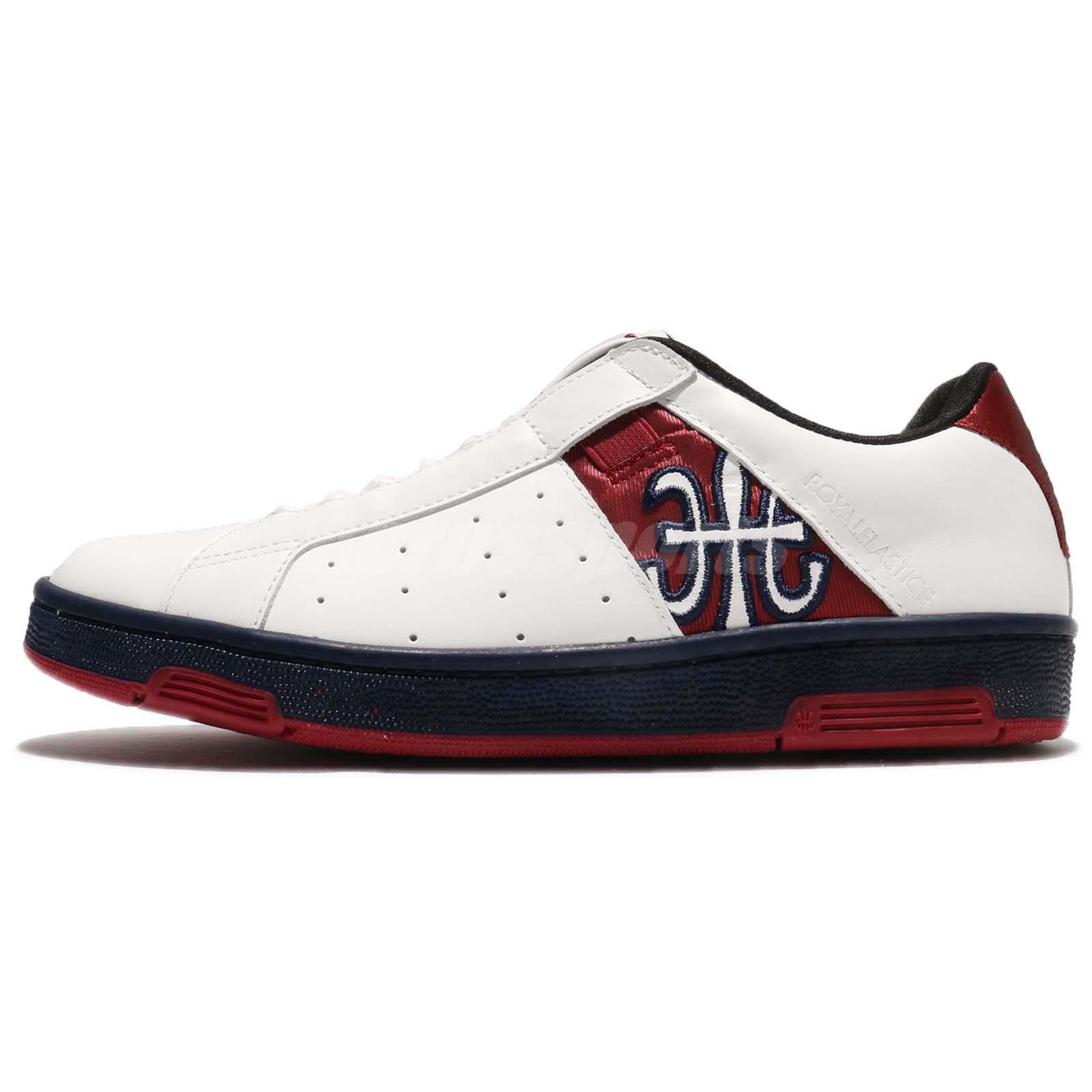 Royal Elastics Icon 1707 White Red Leather Women Shoes Sneaker ...