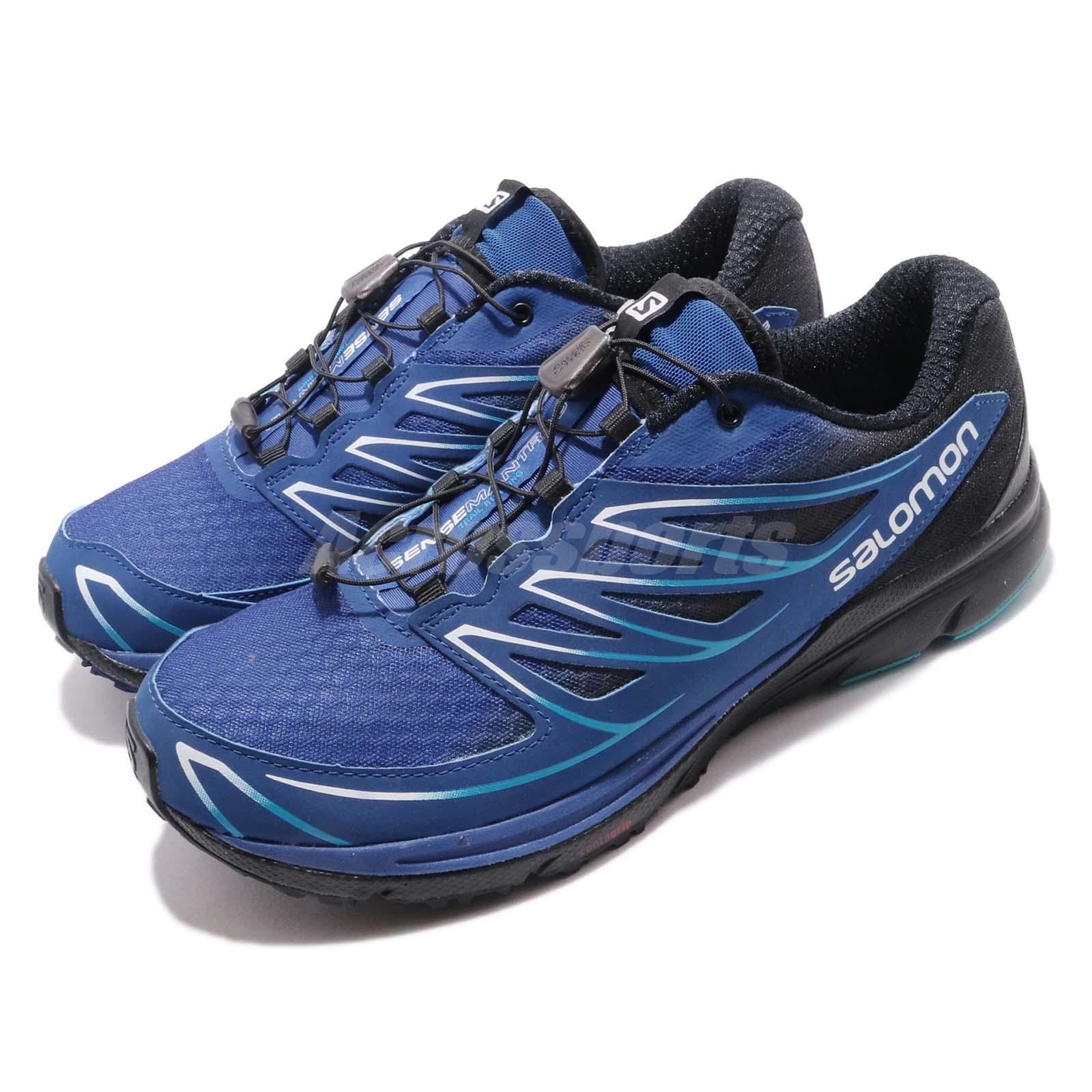 c163afc32aab Details about Salomon Sense Mantra 3 Blue Black White Men Trail Running  Shoe Sneaker L39013100