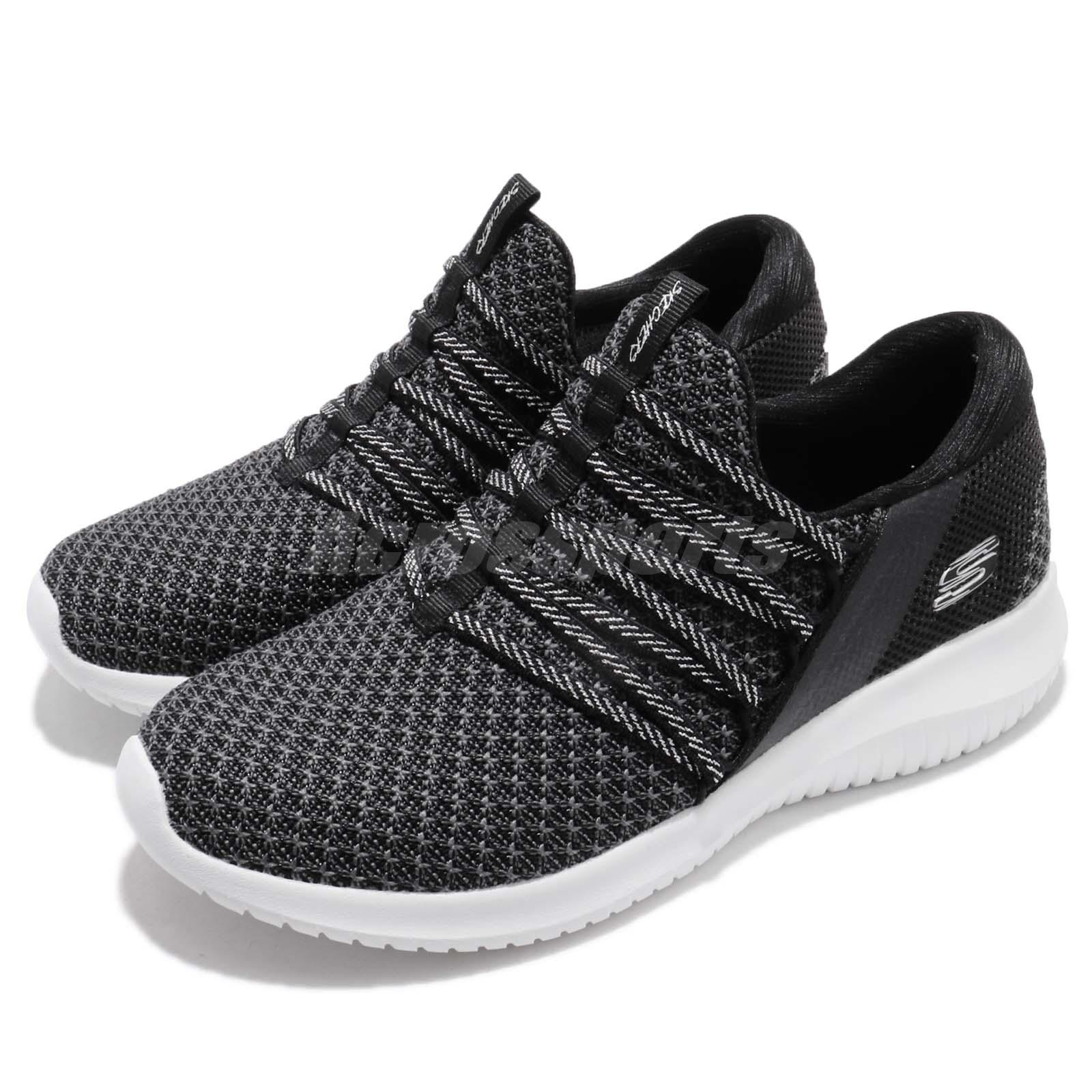 2d2949f56674 Skechers Ultra Flex-Bright Future Black White Women Casual Shoes ...