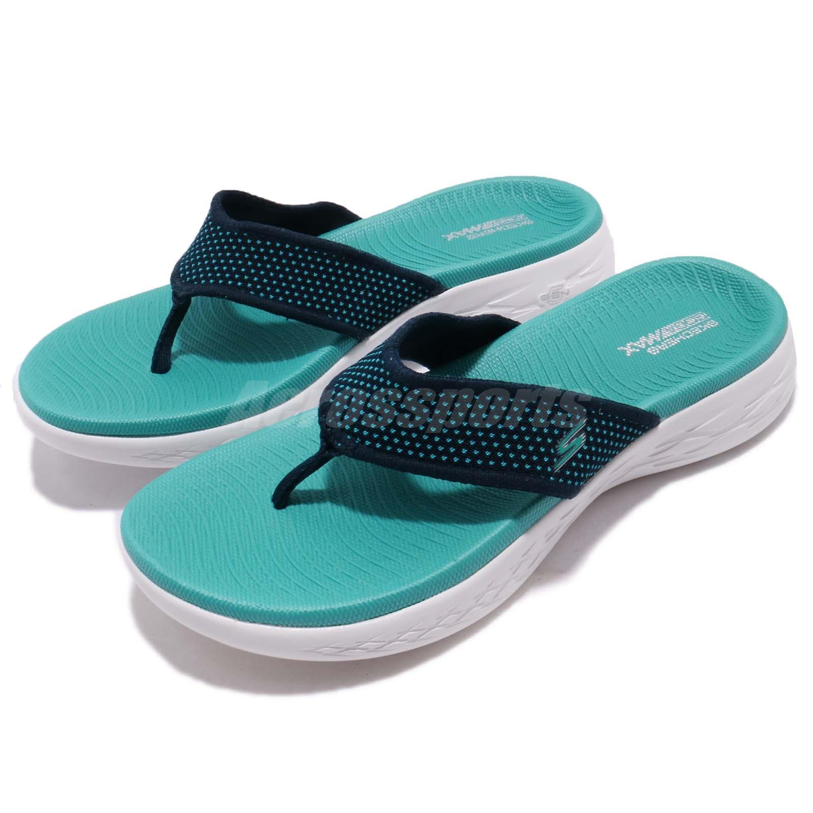 0189331c88 Details about Skechers On-The-Go 600 Navy Turquoise Women Sandal Thong  Flip-Flops 15300-NVTQ