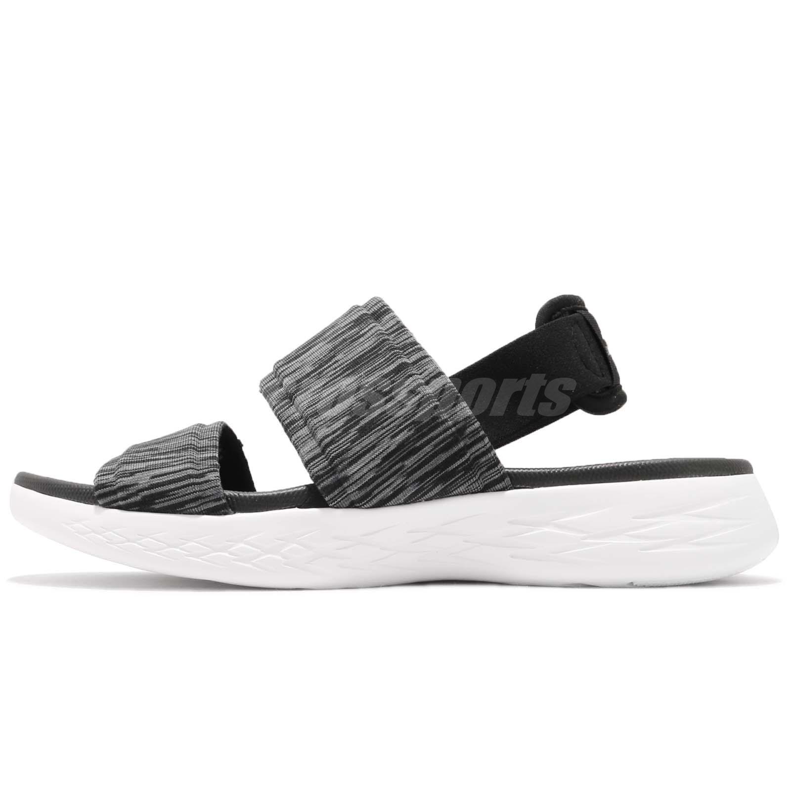b4763ab811ea Skechers On-The-Go 600-Foxy Black White Women Sports Sandal Shoes 15309-BKW