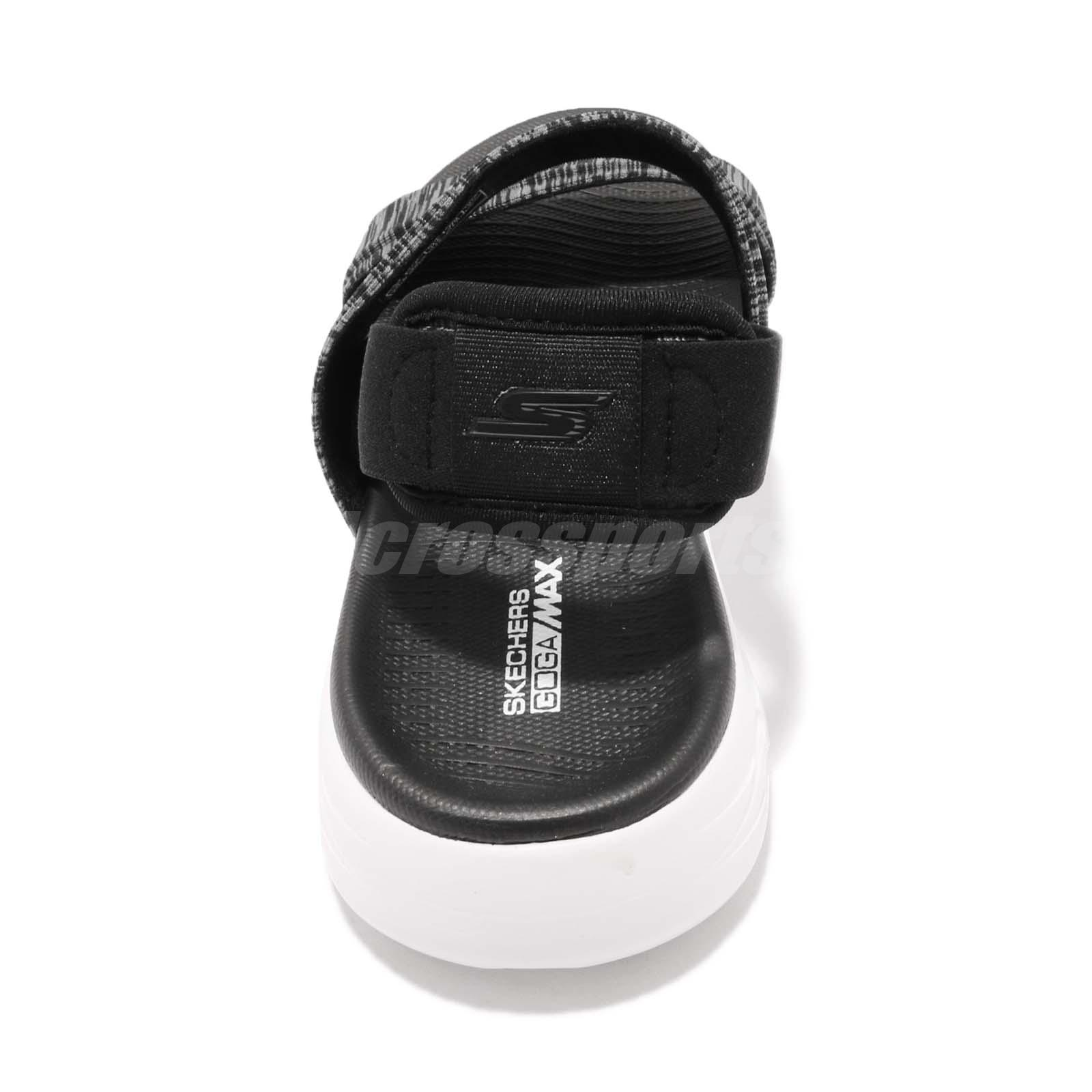 c4319ccec500 Skechers On-The-Go 600-Foxy Black White Women Sports Sandal Shoes ...