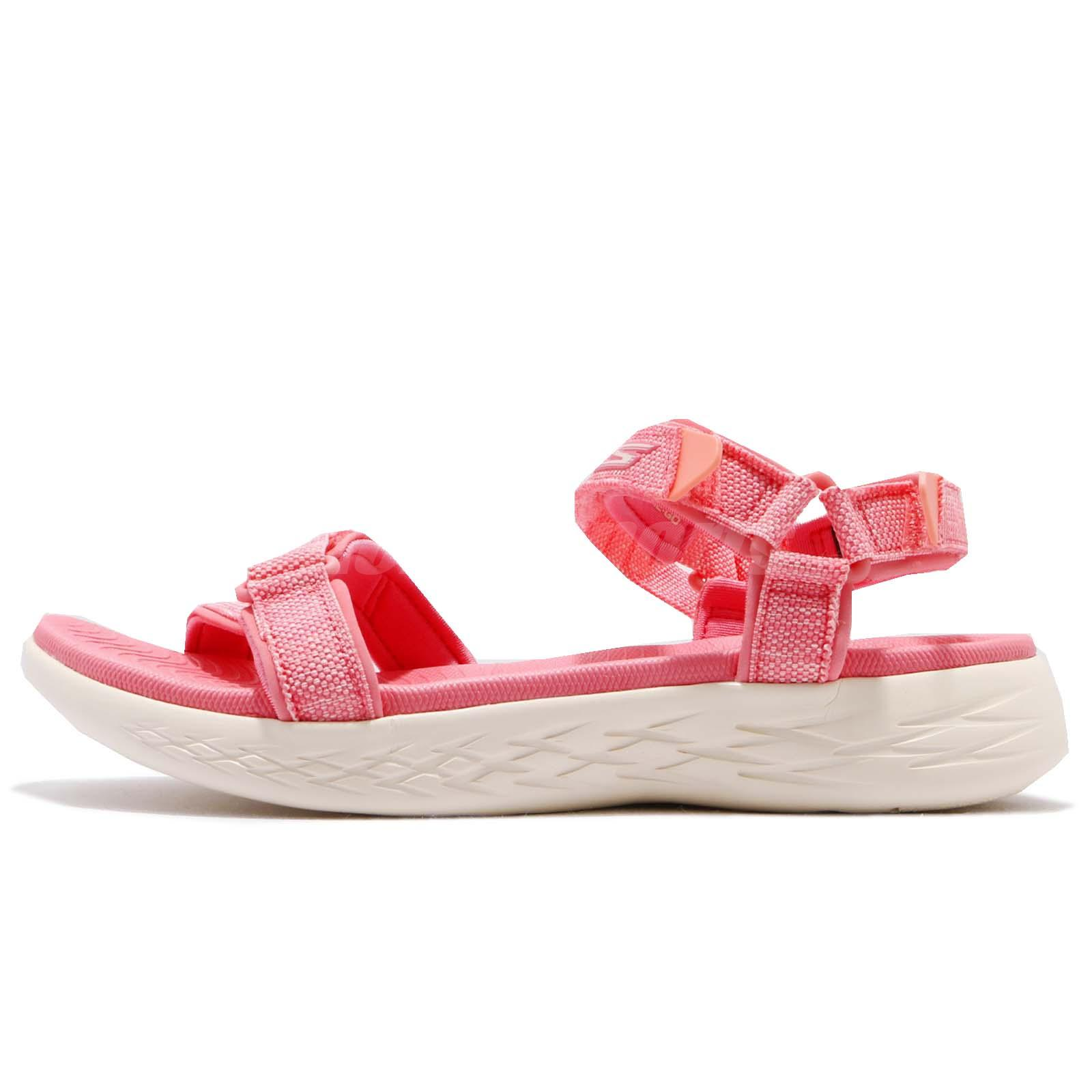 ca7b9321d8b9 Skechers On-The-Go 600-Radiant Pink White Women Sandal Slippers 15315-PNK