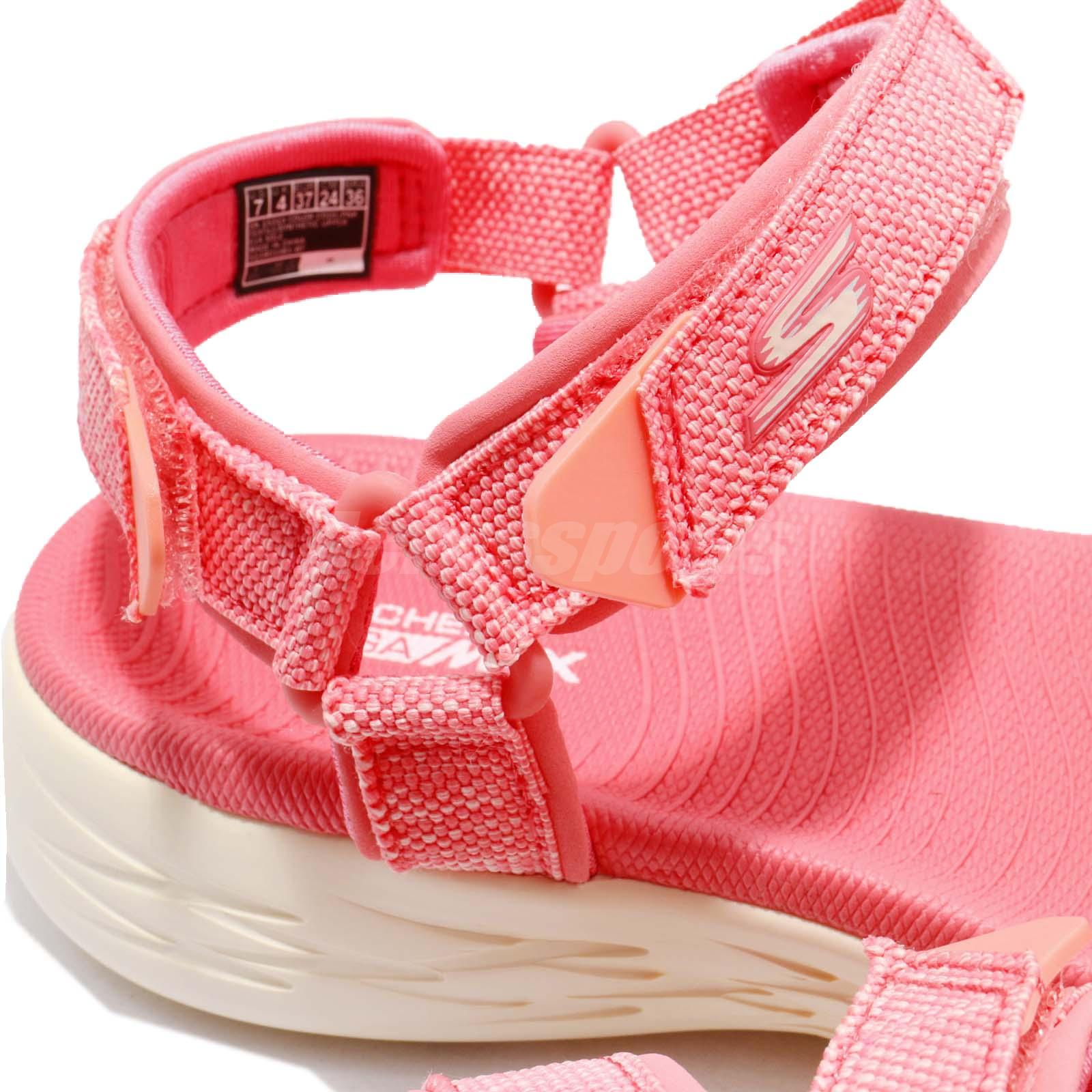4b227cc6e4d7 Skechers On-The-Go 600-Radiant Pink White Women Sandal Slippers ...