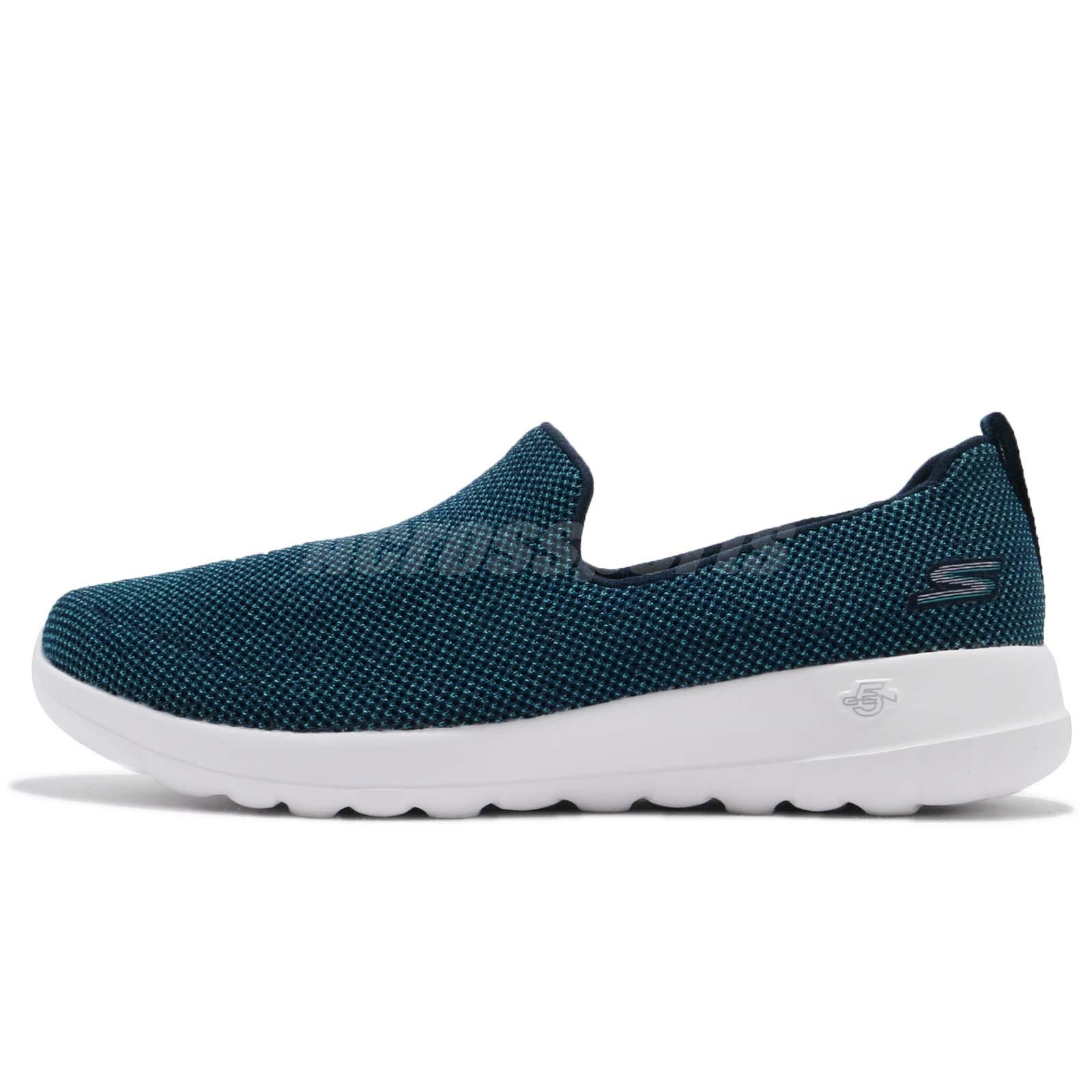 7768498ba75 Skechers Go Walk Joy Activate Teal Navy Women Walking Shoes Slip-on  15609-NVTL