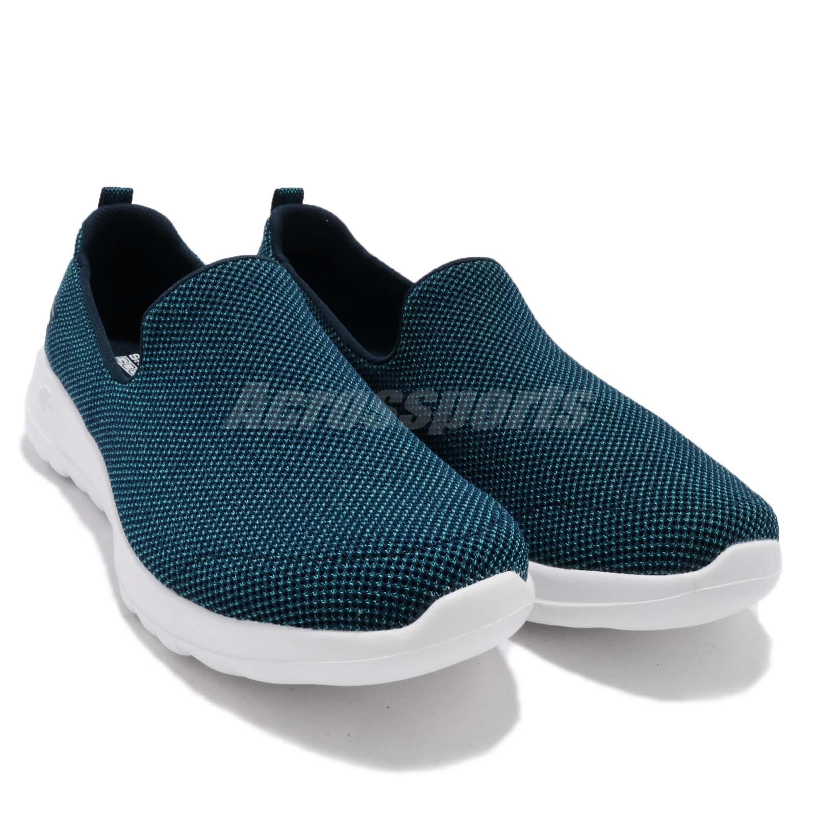 28f3599b904 Skechers Go Walk Joy Activate Teal Navy Women Walking Shoes Slip-on ...