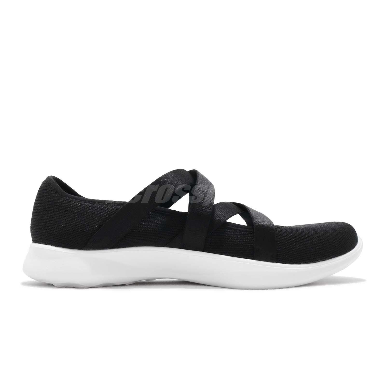 4c9f47904e17 Skechers Serene-Elation Black White Women Slip On Walking Casual ...