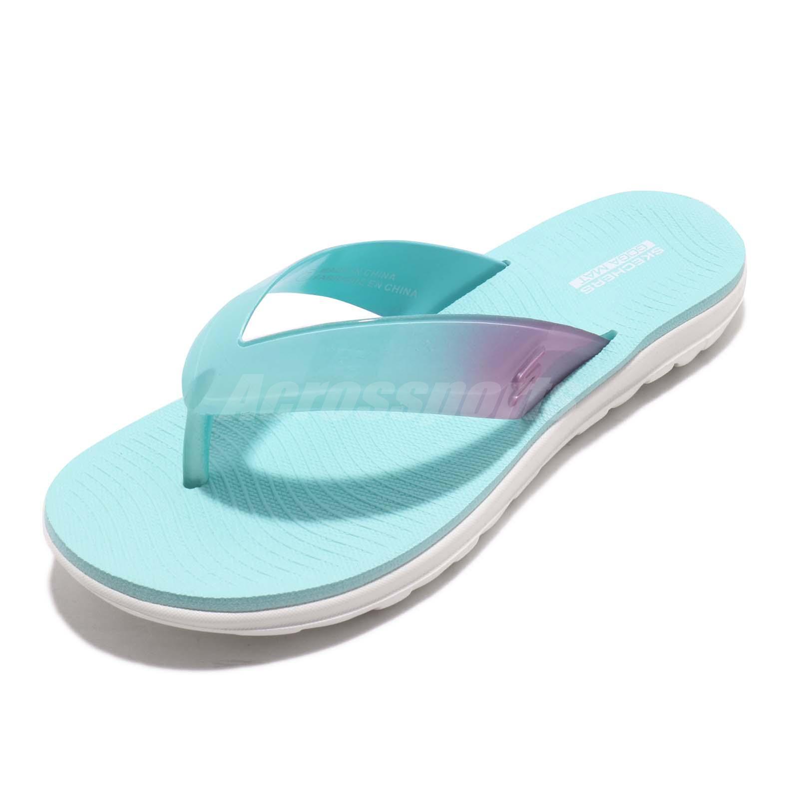 skechers pink flip flops