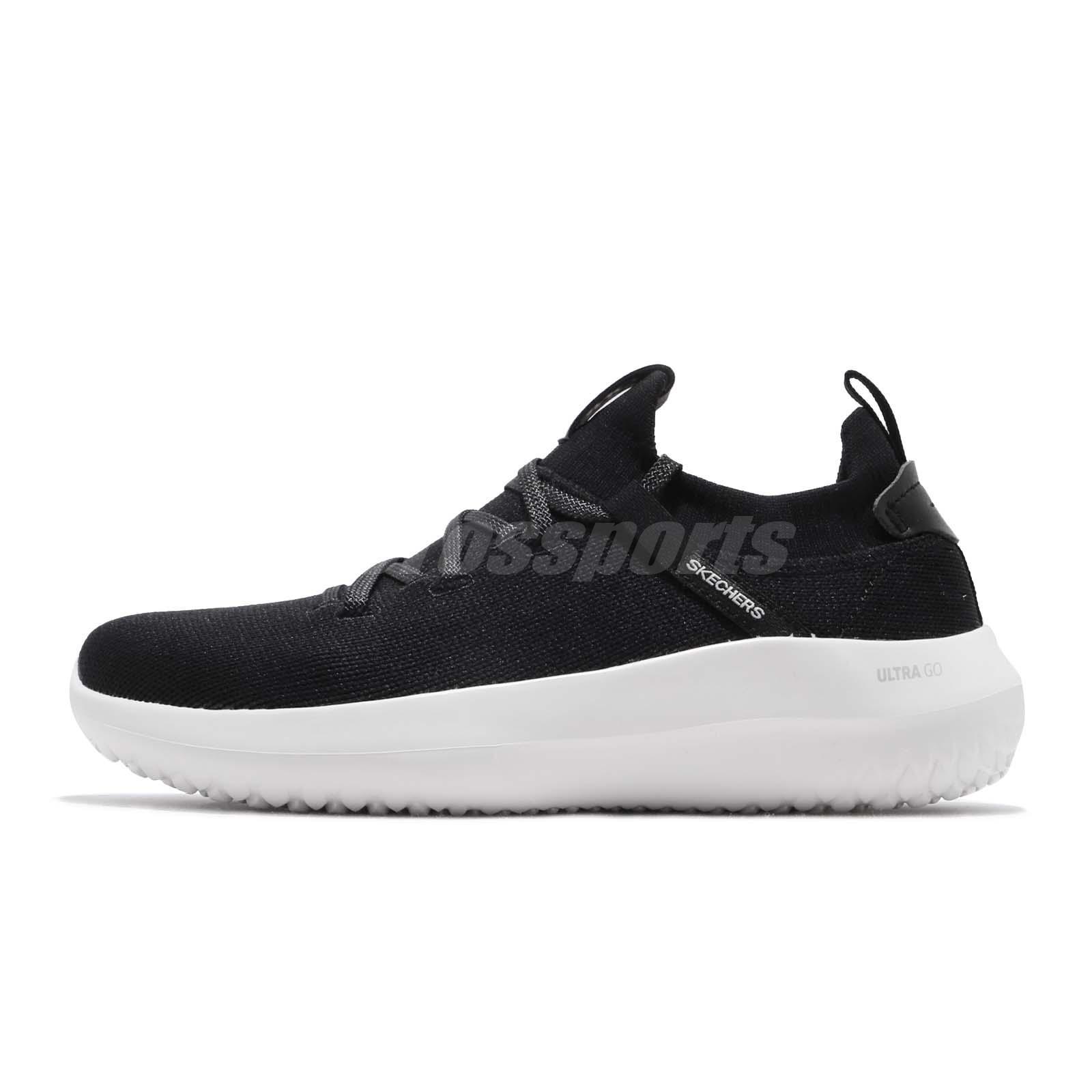 2dd79a32d48 Skechers Downtown Ultra-Core Black White Women Running Shoes Sneakers  18040-BKW