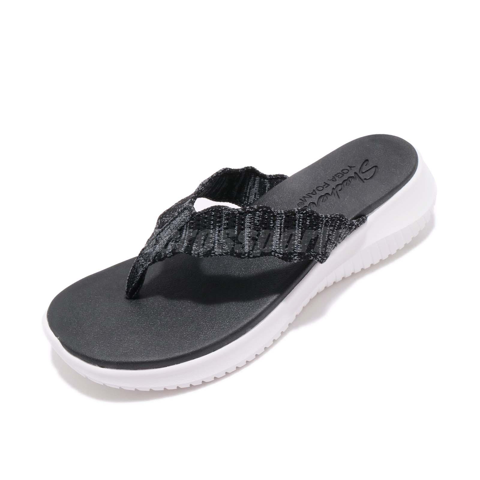 Skechers Womens Black Flip Flops