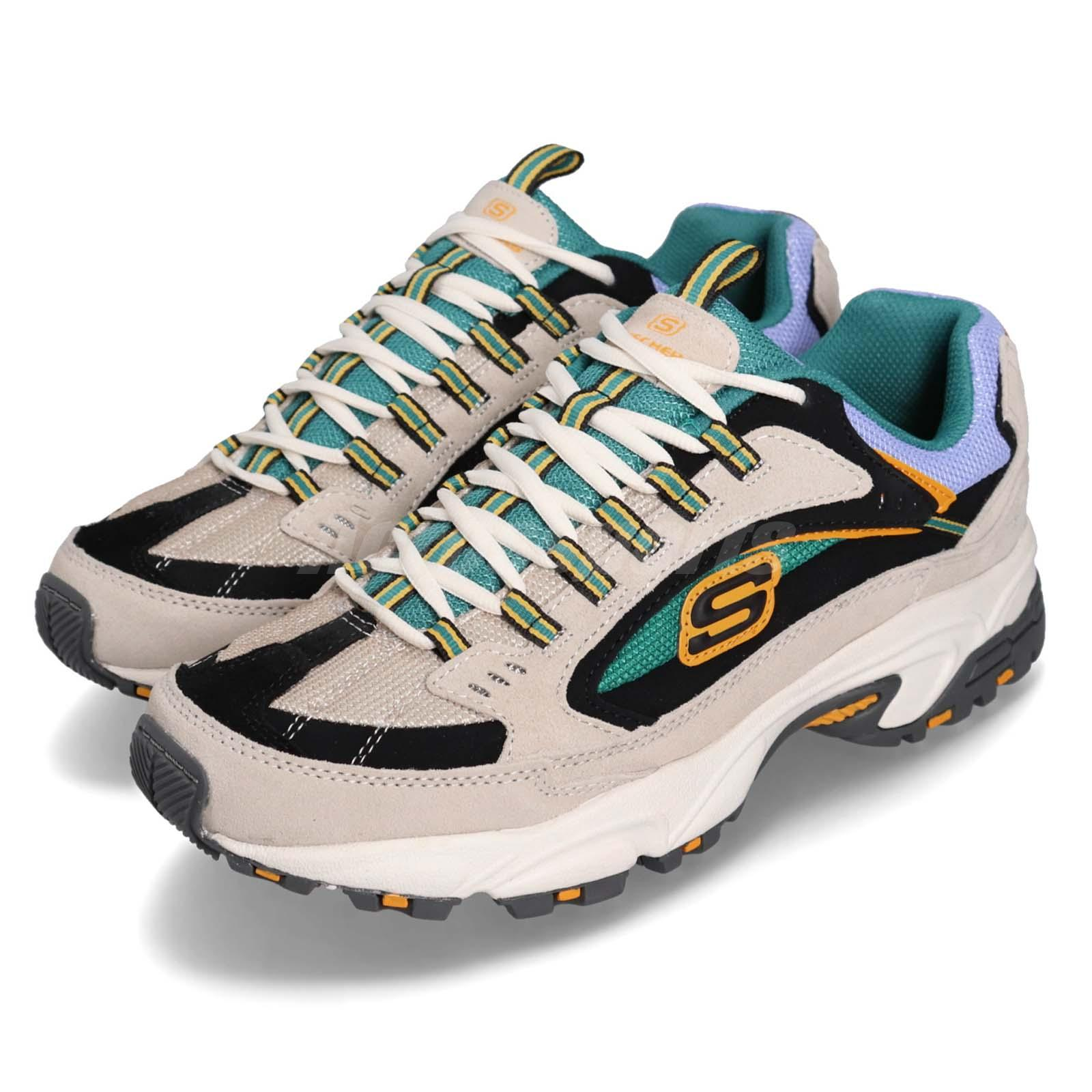 4aebd88913ea Details about Skechers Stamina-Cutback Grey Green Black Yellow Men  Lifestyle Shoes 51286-WMLT