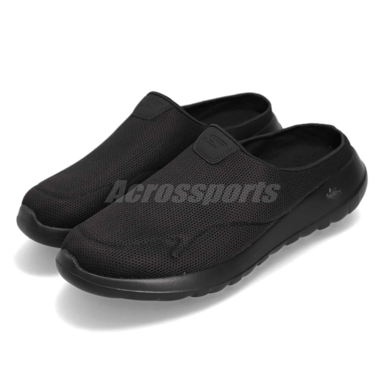 638ac5dff Details about Skechers Go Walk Max-Talent Black Men Sandals Slip On Walking  Shoes 54636-BBK