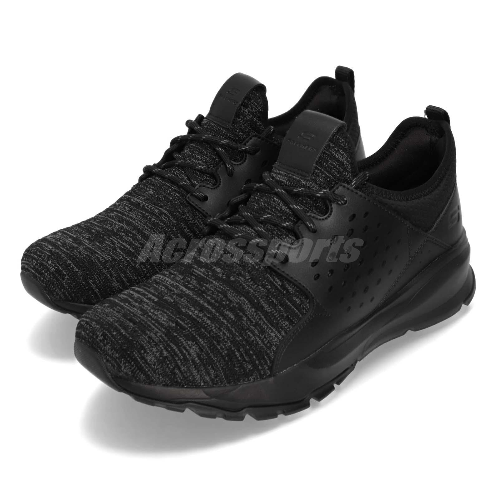 Details about Skechers Relven Velton Black Men Walking Casual Shoes Sneakers 65659W BBK