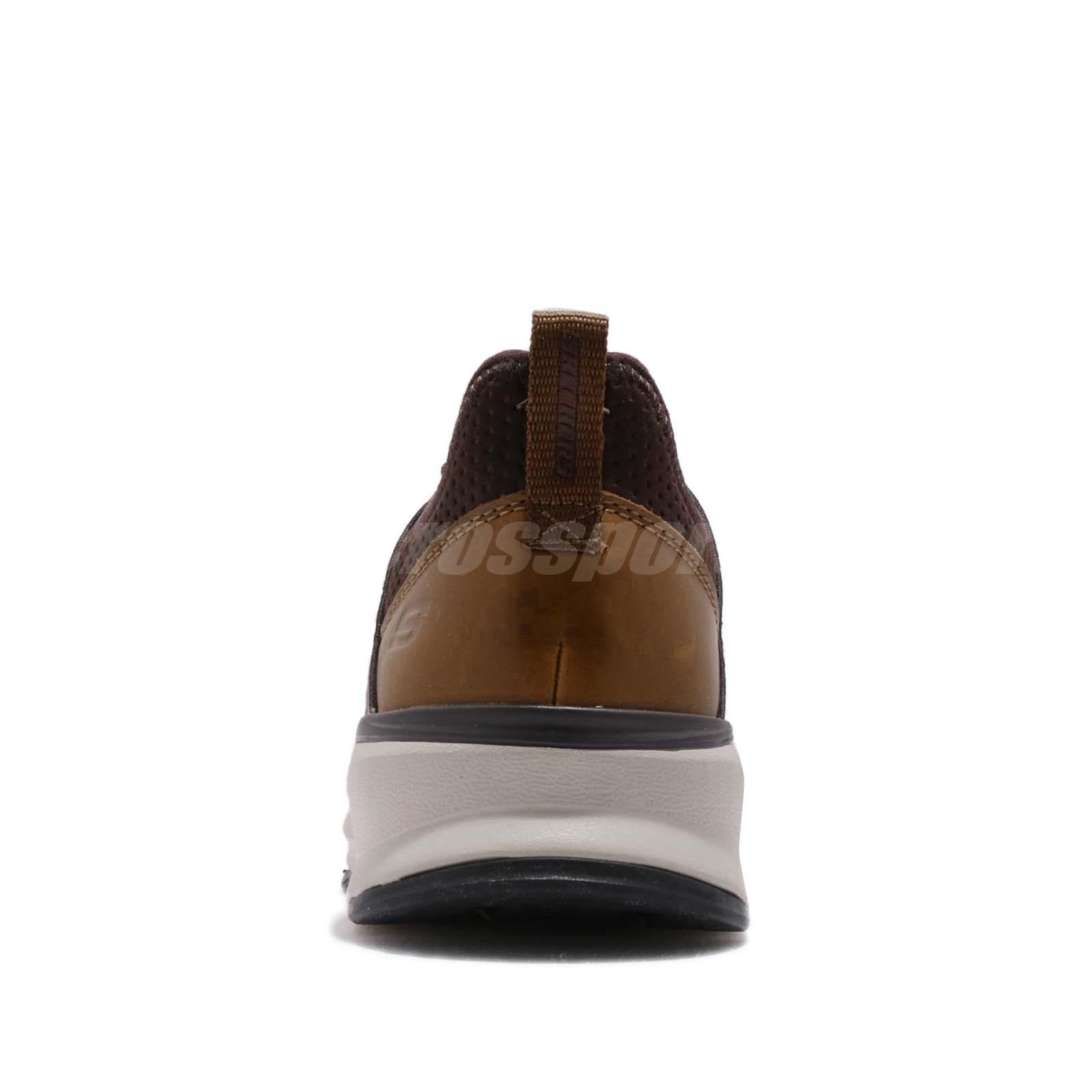 Details about Skechers Relven Hemson Brown Black Men Casual Lifestyle Shoes Sneaker 65732 CHOC