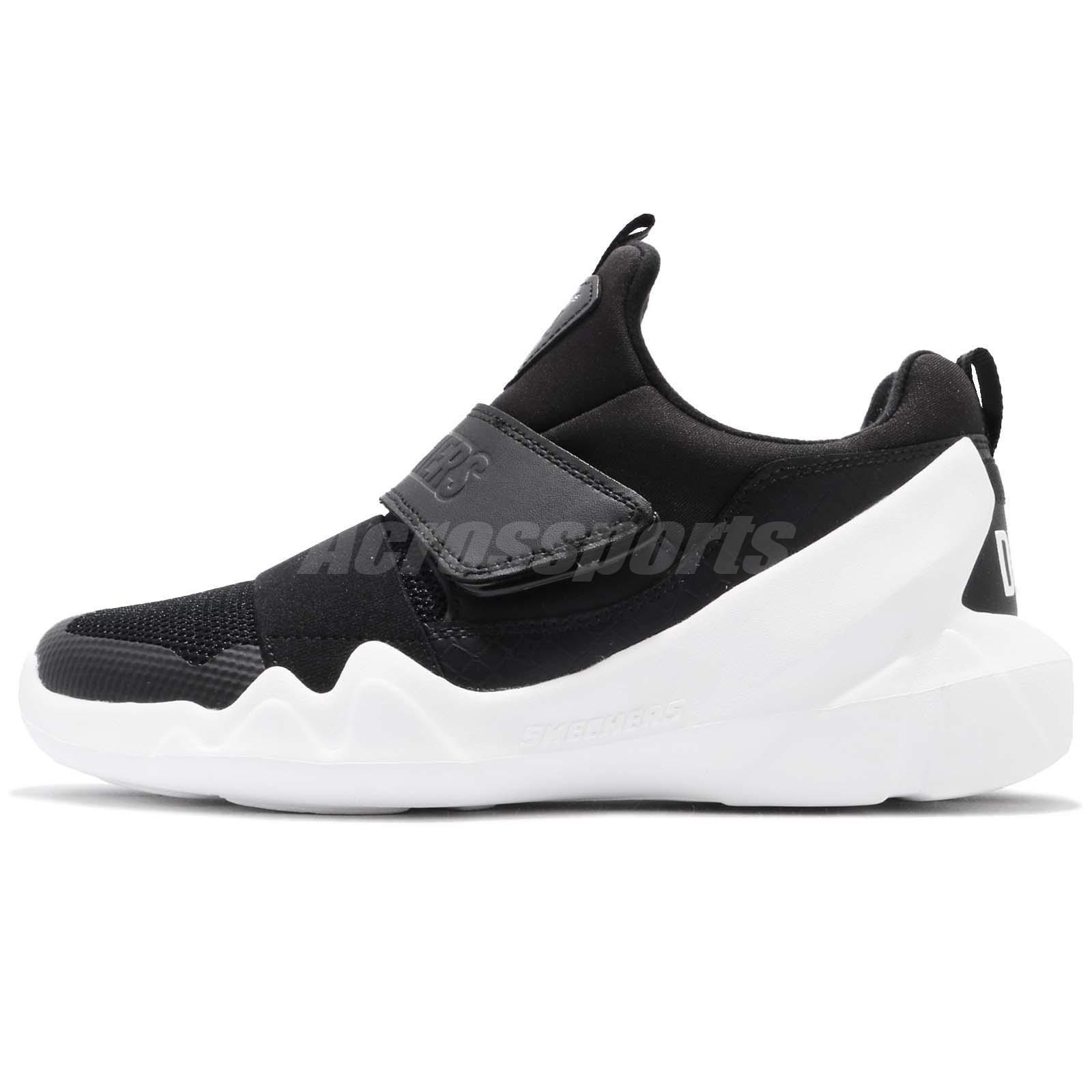 Skechers D Lites DLT-A Black White Women Running Shoes Sneakers 66666085-BLK