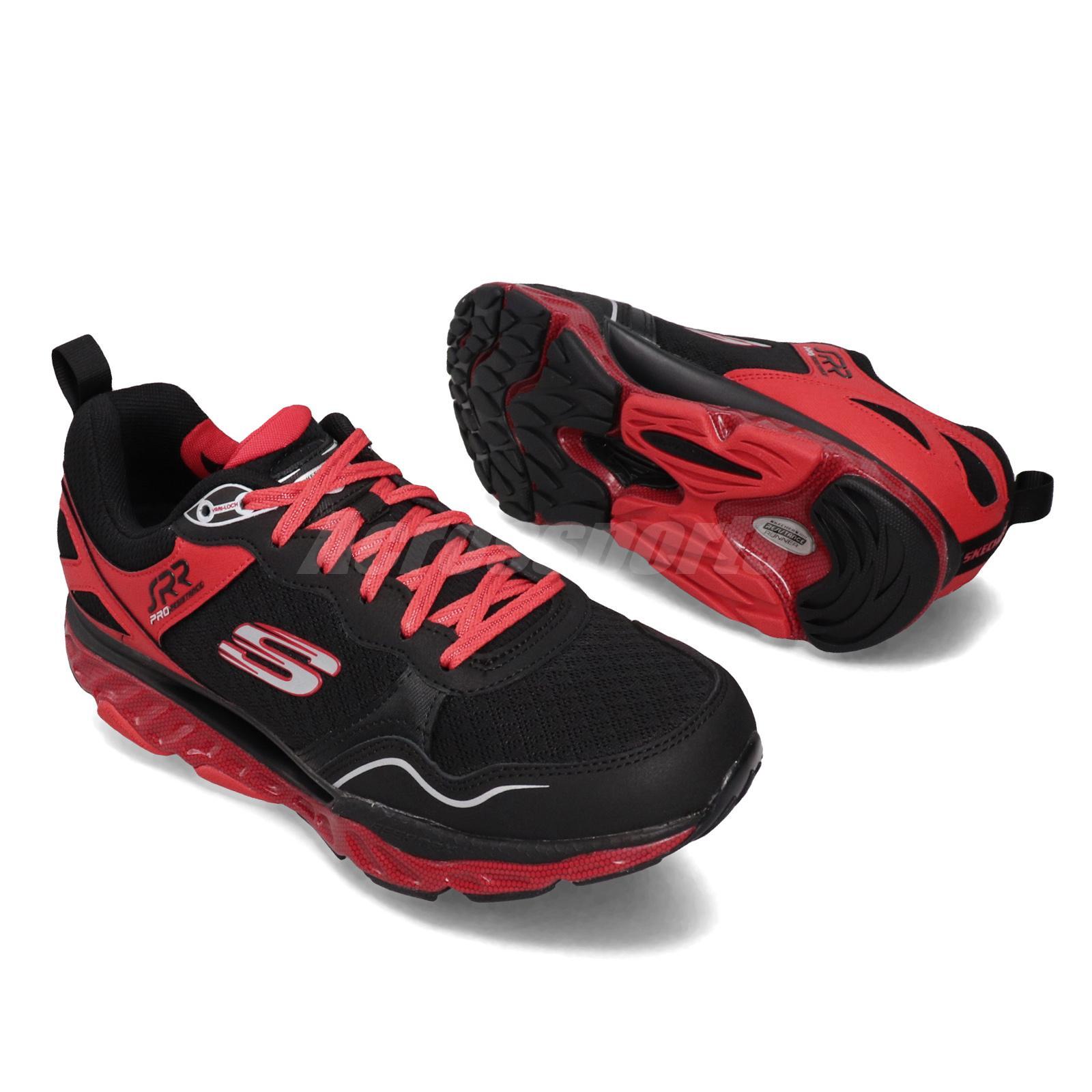 Skechers SRR Pro-Resistance-Runaway Black Red Men Running Shoes 999124-BKRD