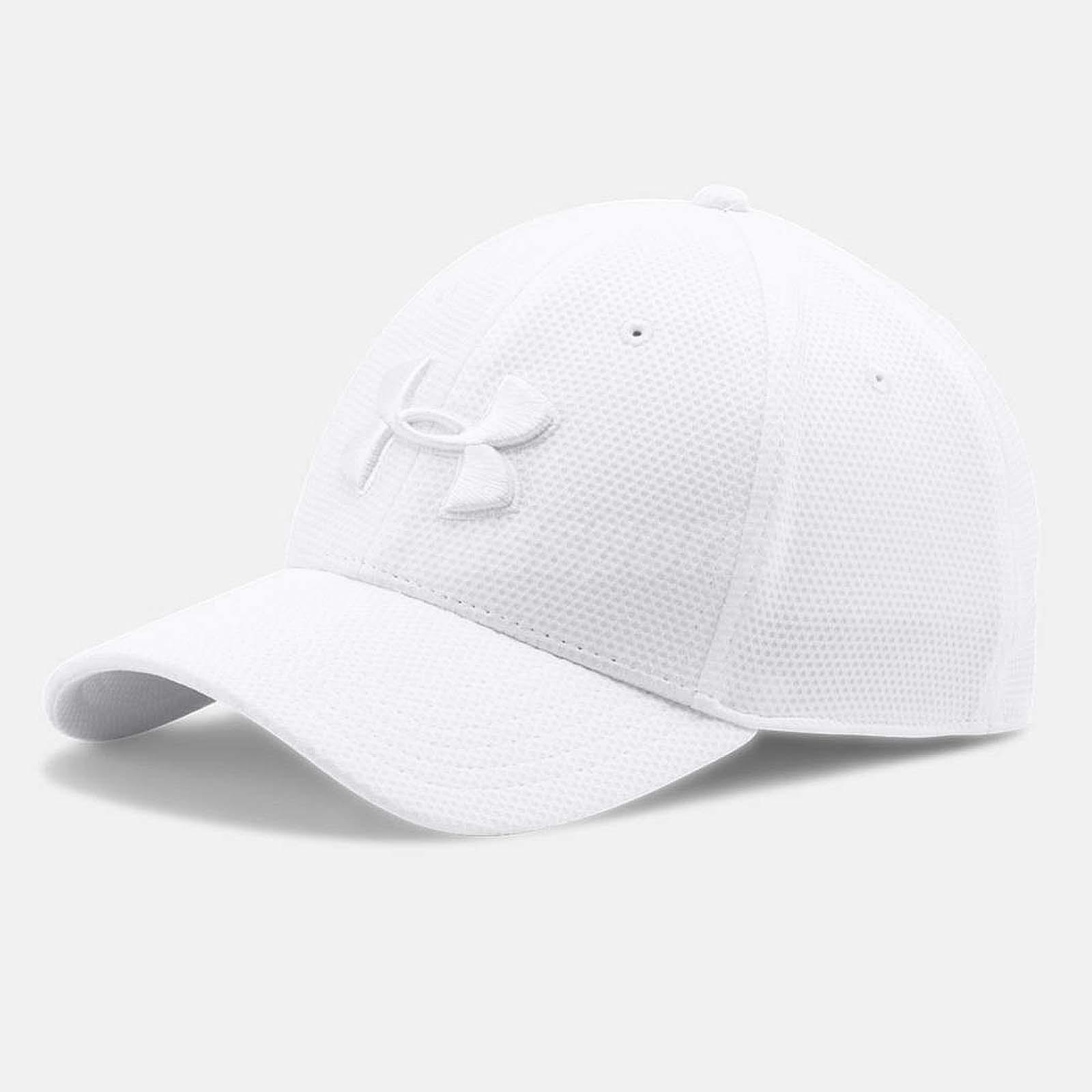 new style 60b0a b2054 Details about Under Armour Men Blitzing II Stretch Fit Cap Training Sport  Hat White 1254123101