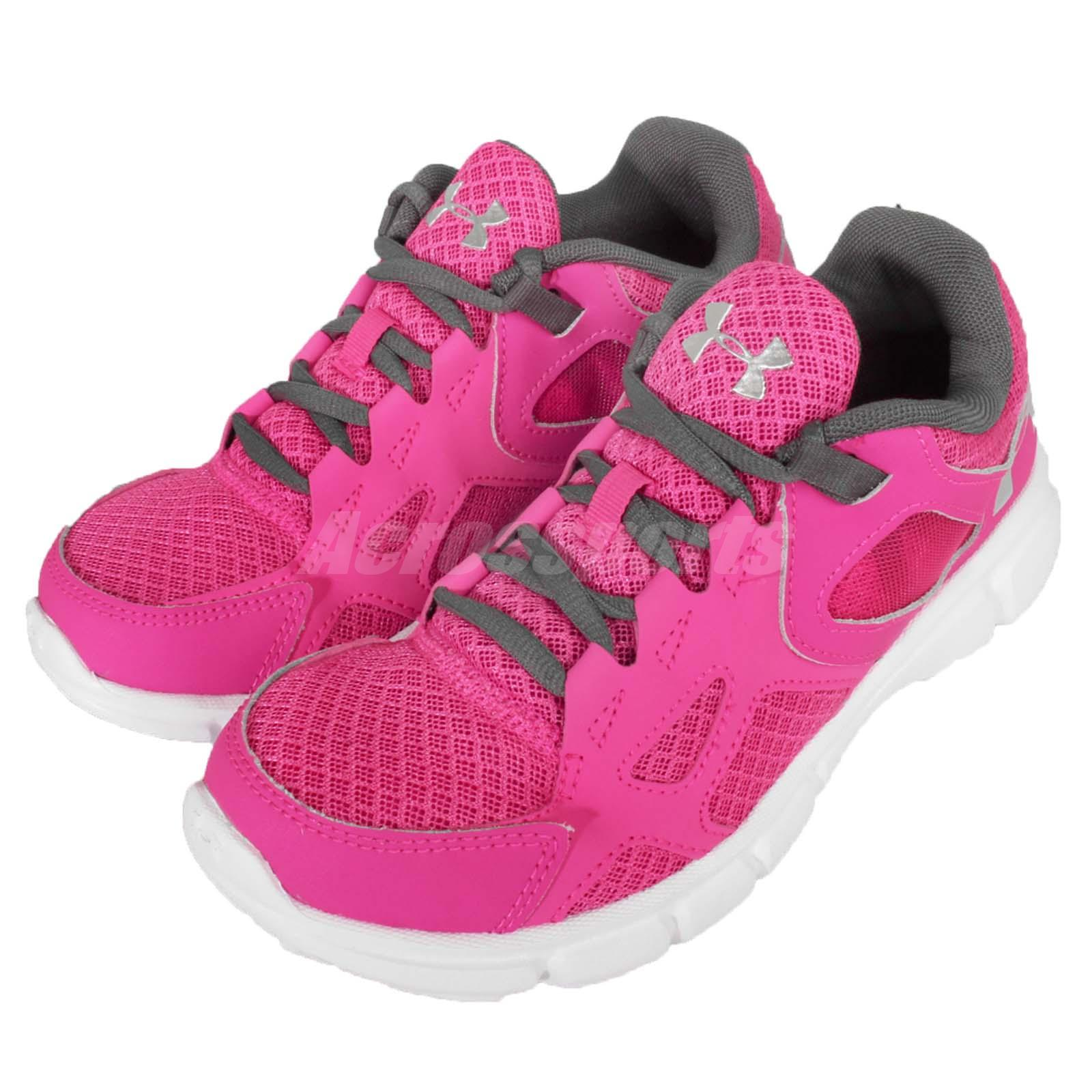 Under Armour UA W Thrill Pink White Womens Running Shoes ...