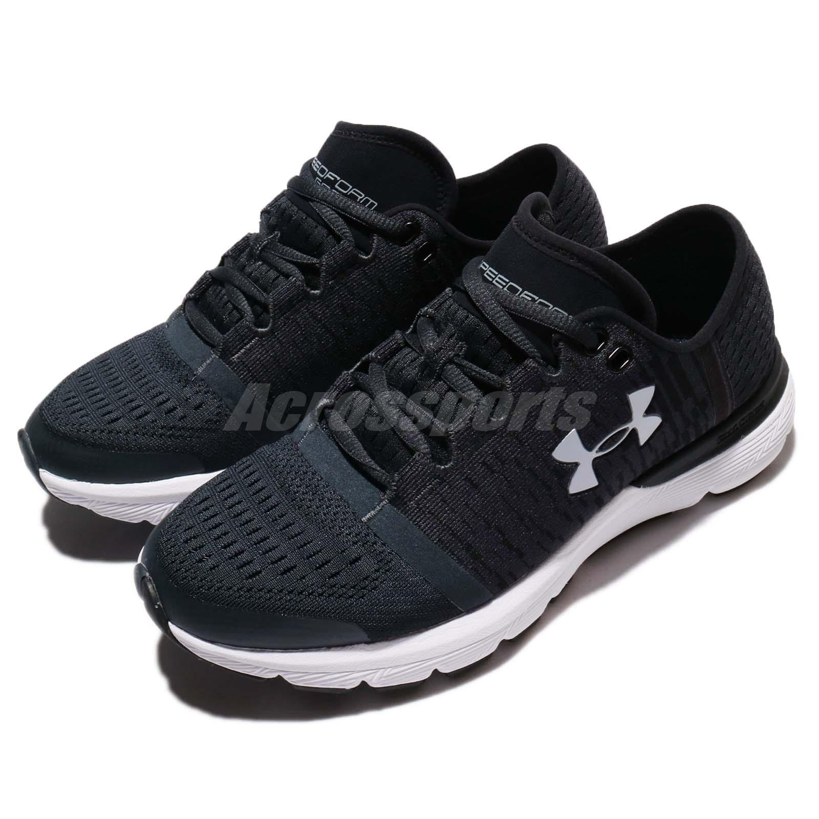 reputable site 347a8 18345 Details about Under Armour Speedform Gemini 3 GR Black White Women Running  Shoes 1298662-100