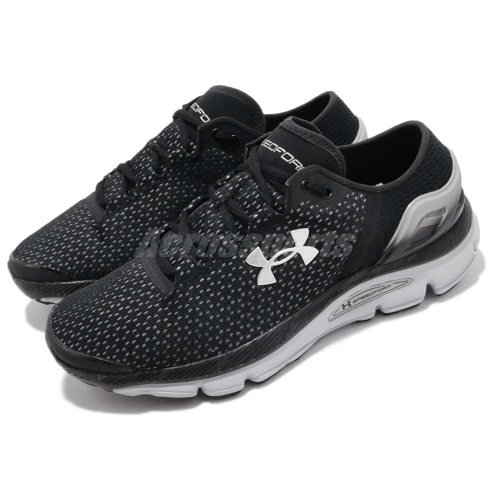 d66aea5d4 Details about Under Armour SpeedForm Intake 2 Black Grey Silver Men Running  Shoes 3000288-002