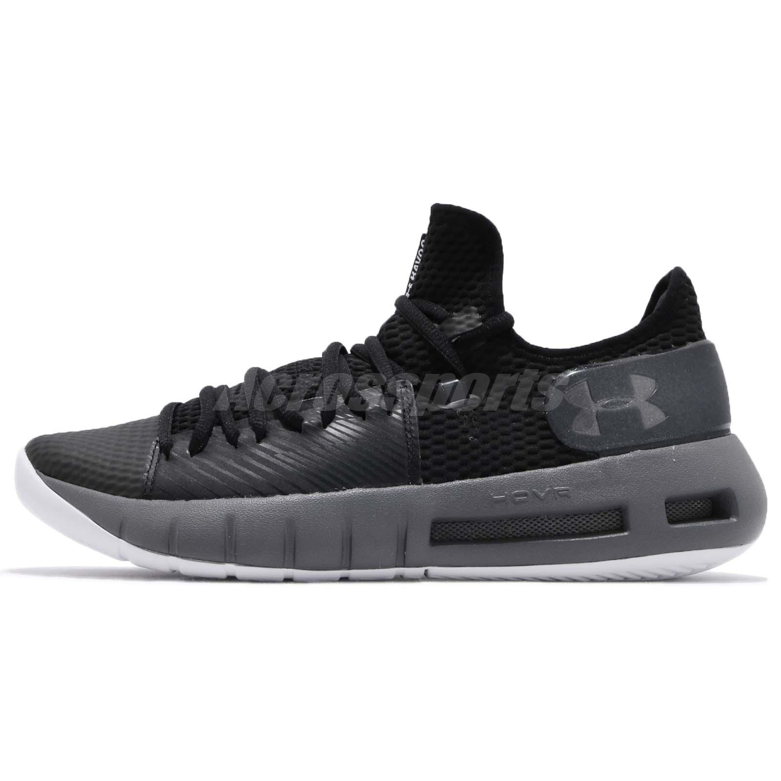 top design 3870a a6787 Details about Under Armour HOVR Havoc Low Black Grey Mens Basketball Shoes  3020618-002