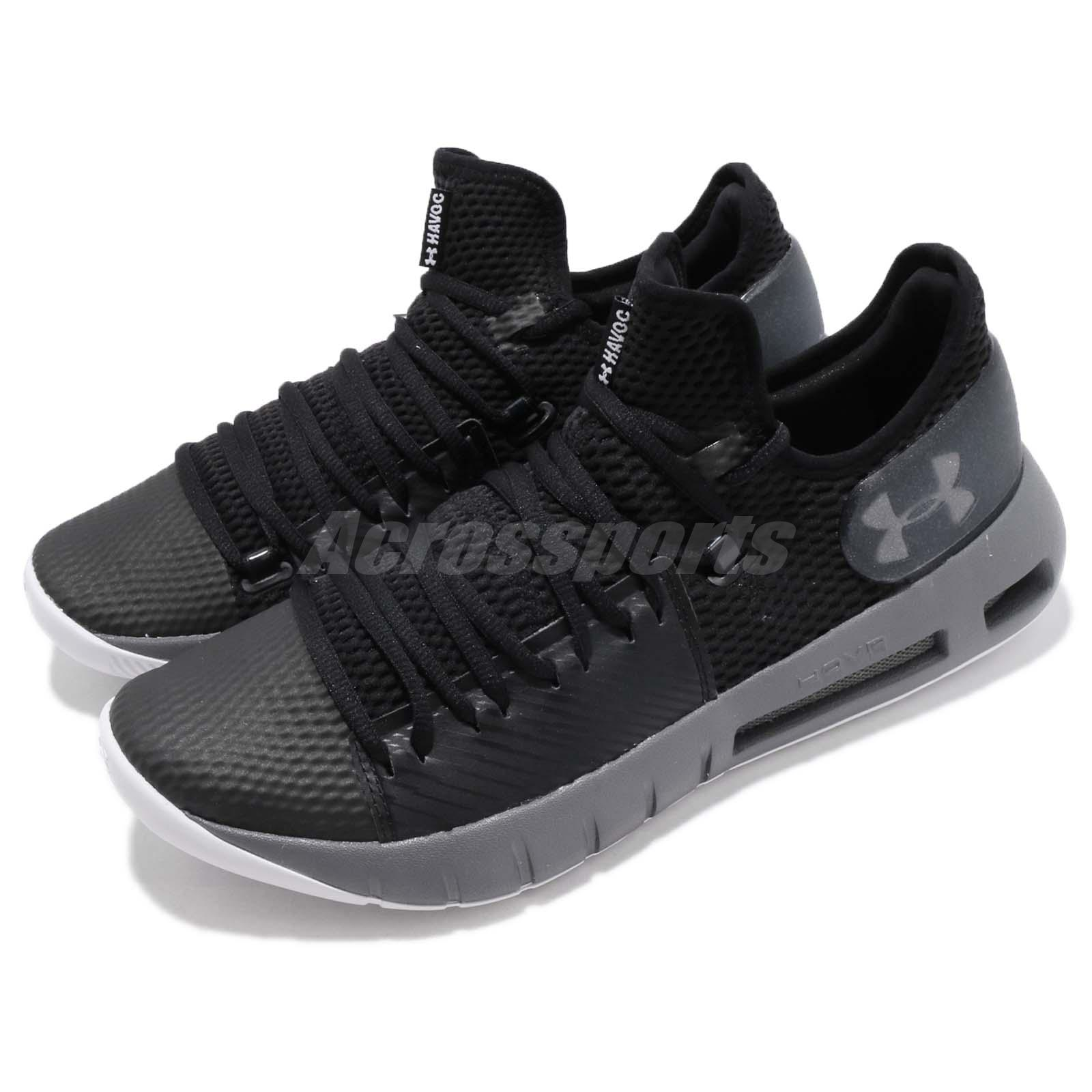 top design 00e4f 55cd3 Details about Under Armour HOVR Havoc Low Black Grey Mens Basketball Shoes  3020618-002