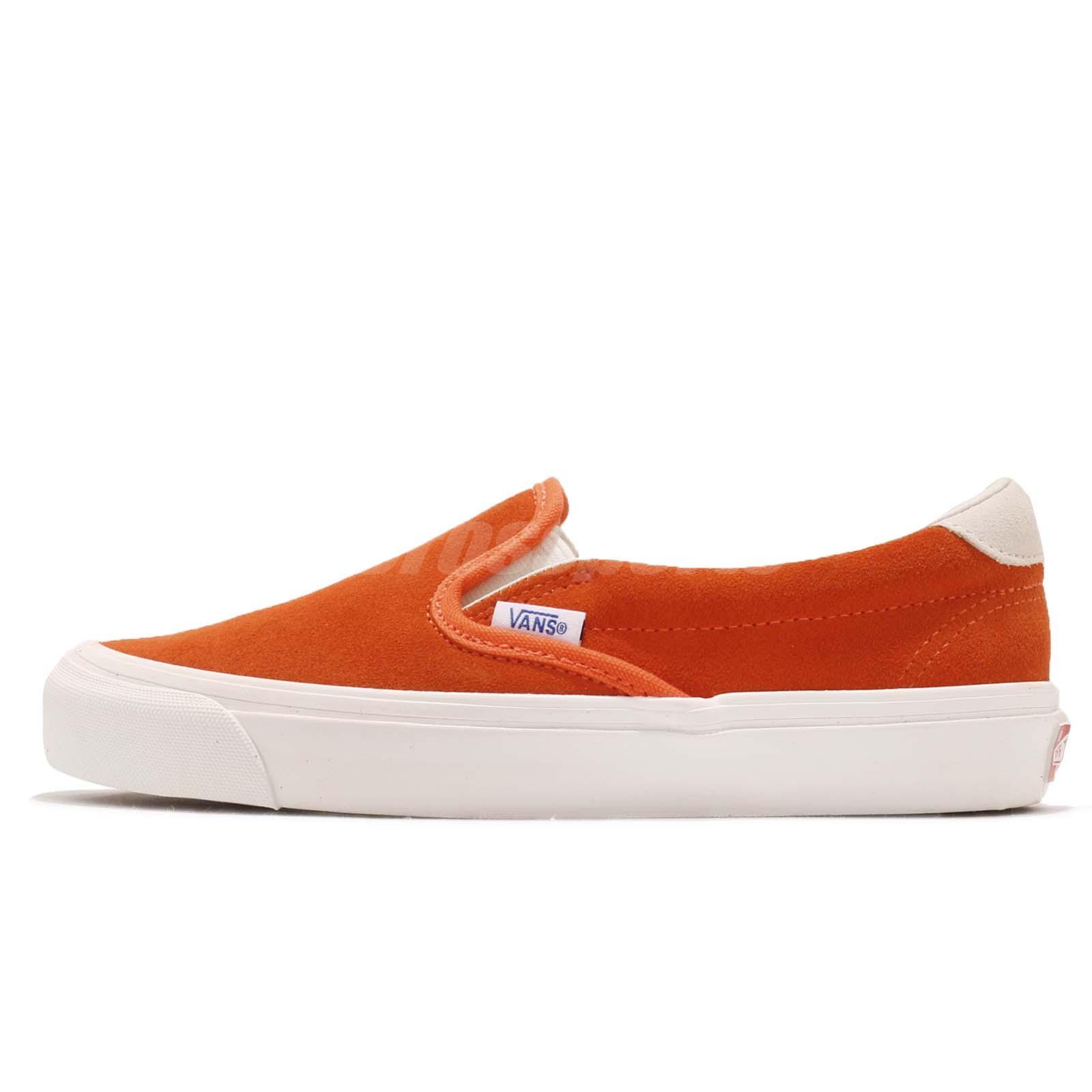 60e4ebc564 Vans Vault OG Slip-On 59 LX Red Orange Men Women Skate Boarding Shoes  181070816